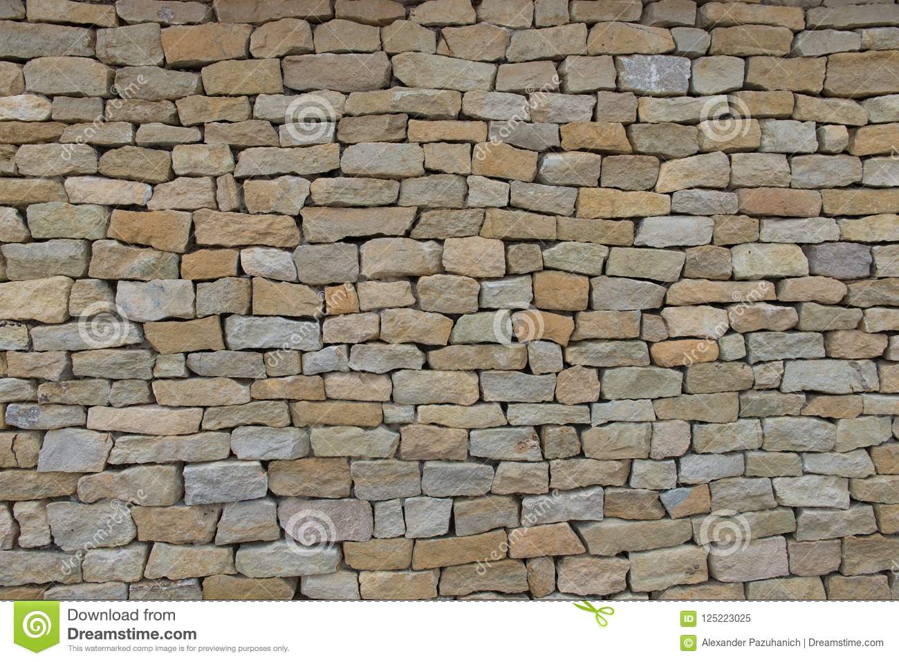 . Seamless Stone Wall Made With Old Bricks  Stock Image   Image of