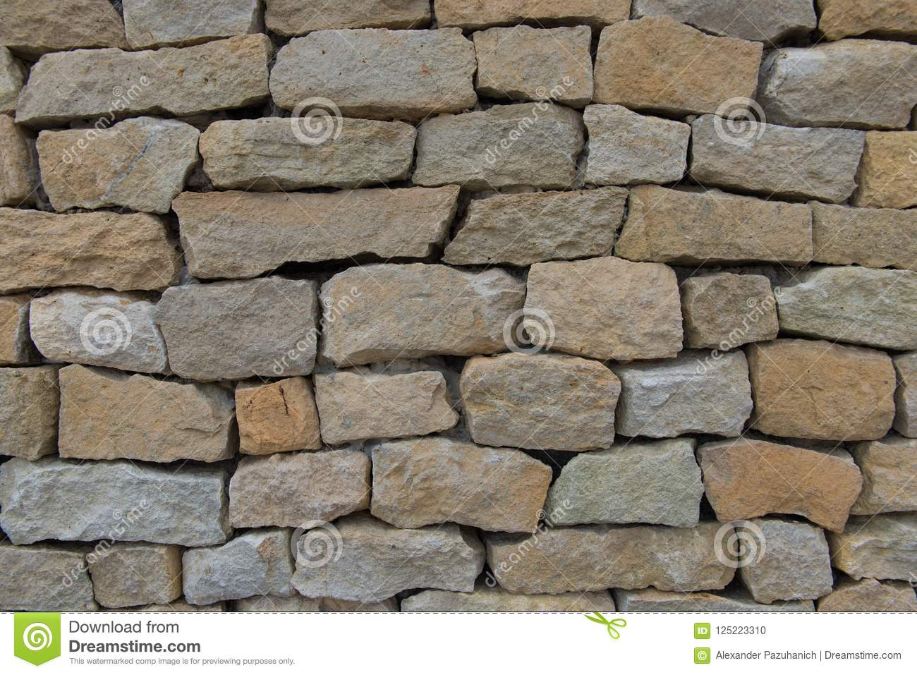 . Seamless Stone Wall Made With Old Bricks  Stock Photo   Image of