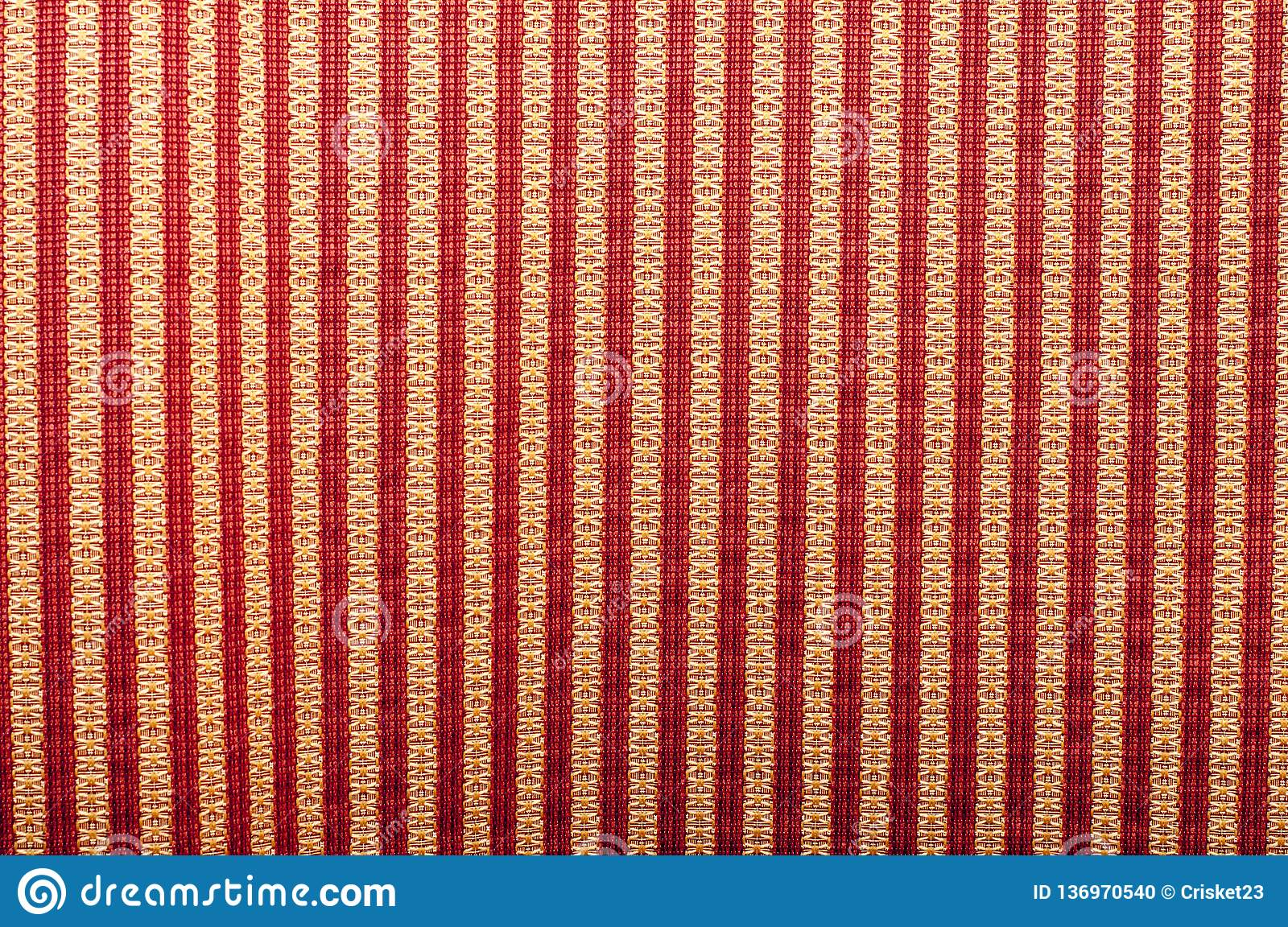 Seamless striped pattern of red and white on stripes on black background
