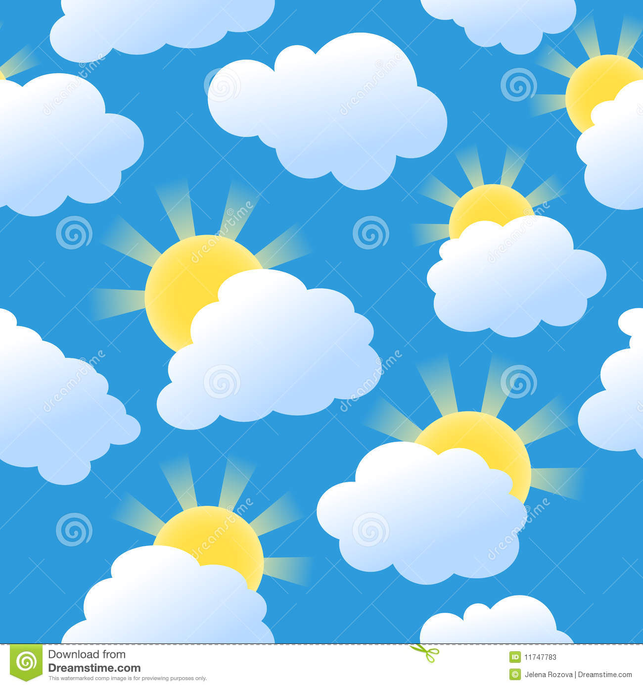 Seamless Sunshine Background Stock Vector Image 11747783