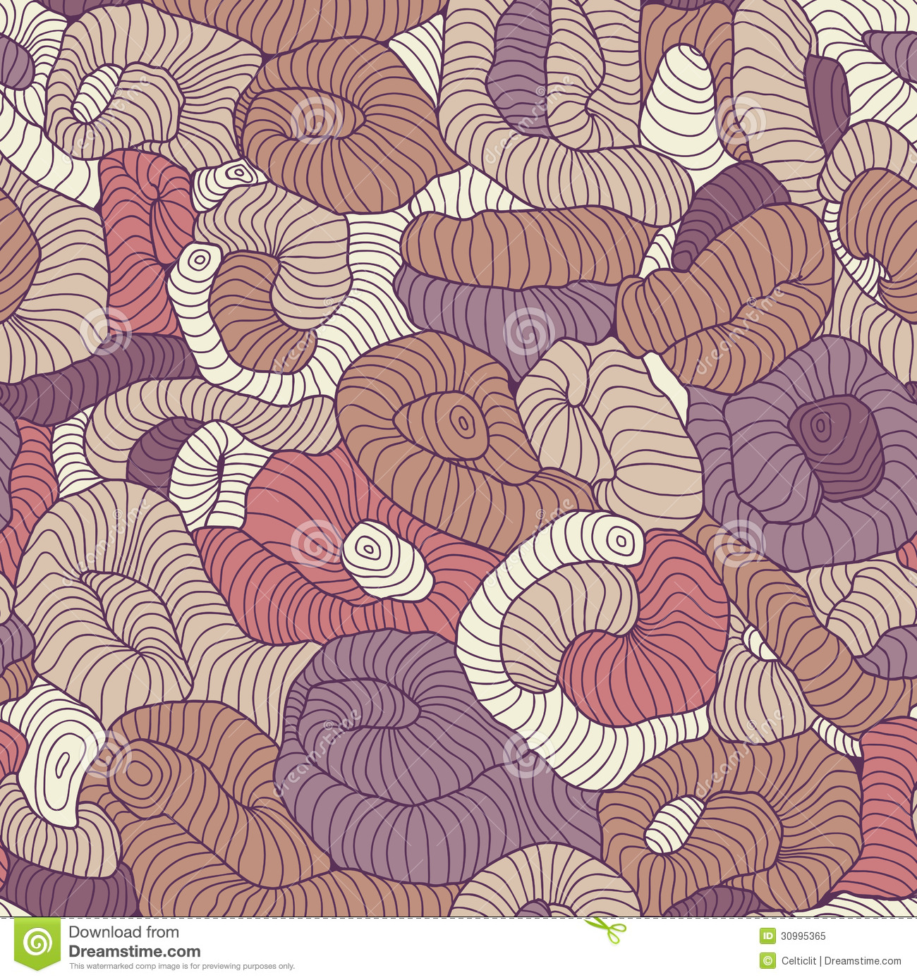 Seamless tangled pattern in colors