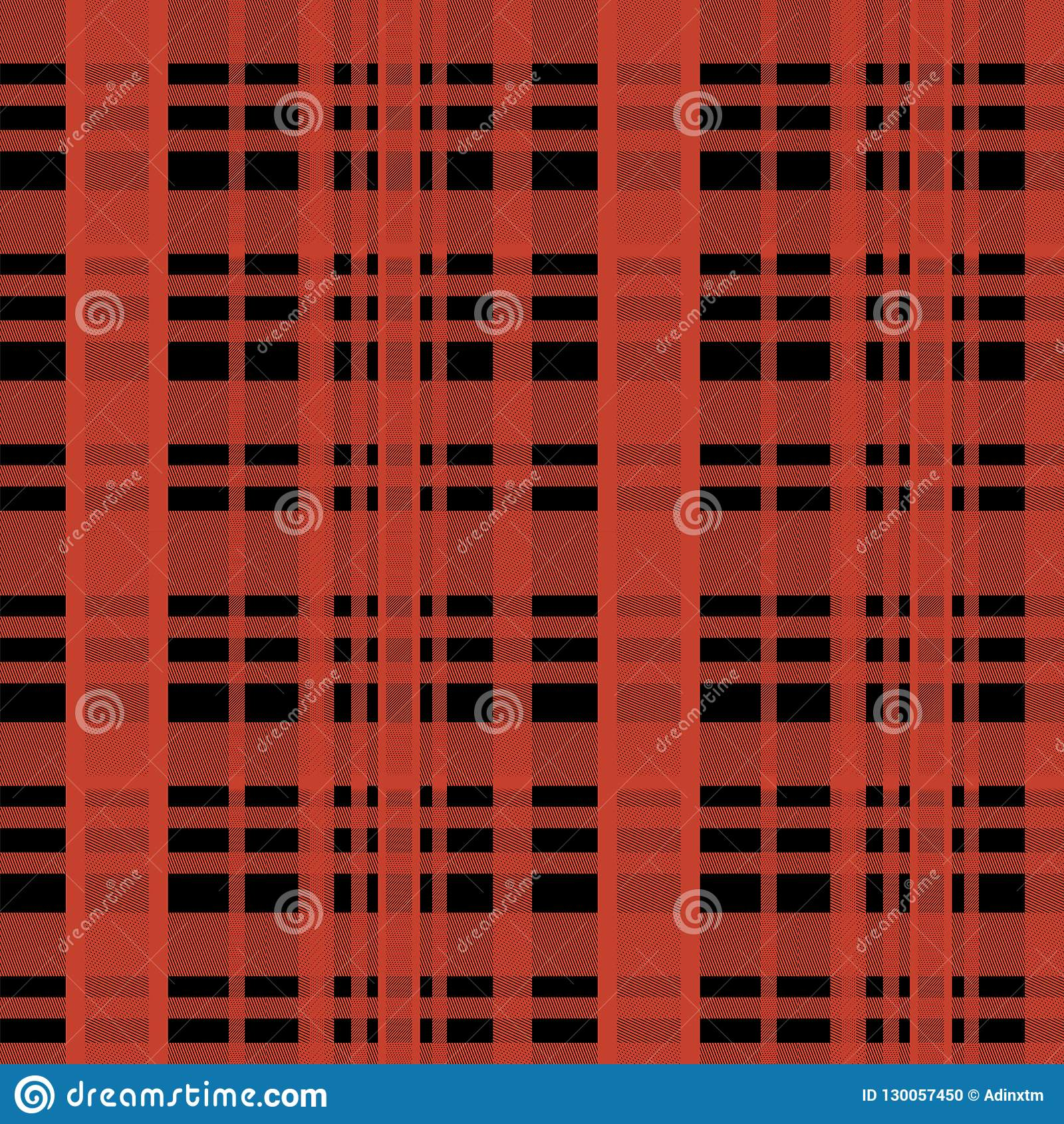 Seamless tartan scottish lumberjack pattern with red and black colors.
