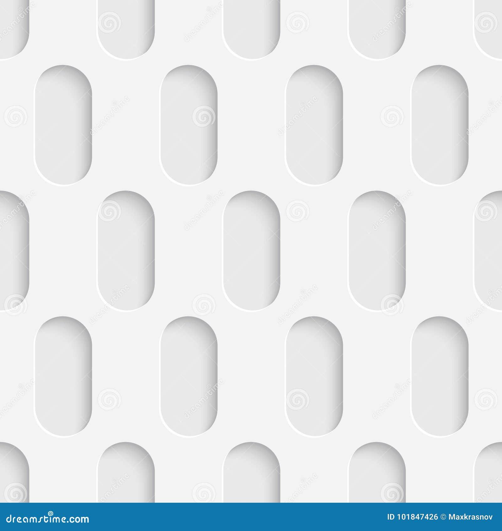 Seamless Tech Wallpaper White Ellipse Background Stock Vector