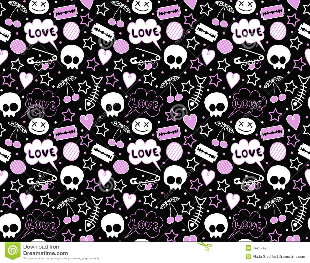 Seamless Teenager Background Stock Vector - Image: 34259423