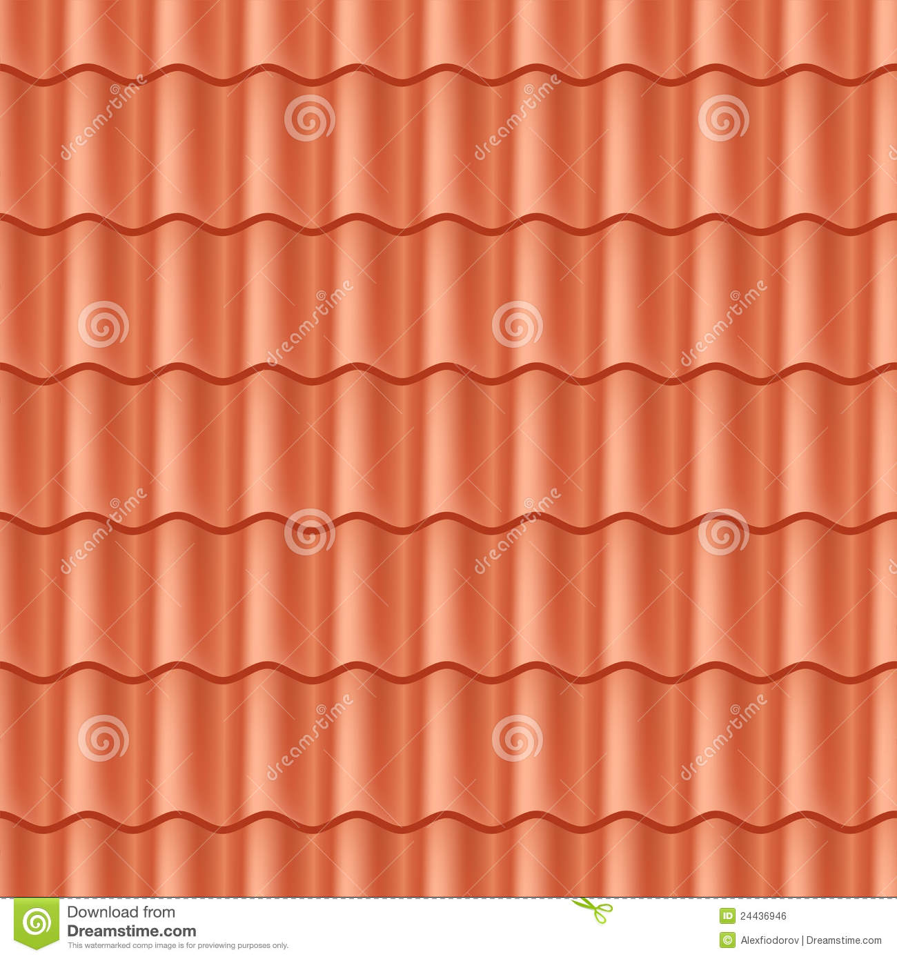 Seamless Terracota Roof Tile Royalty Free Stock Image
