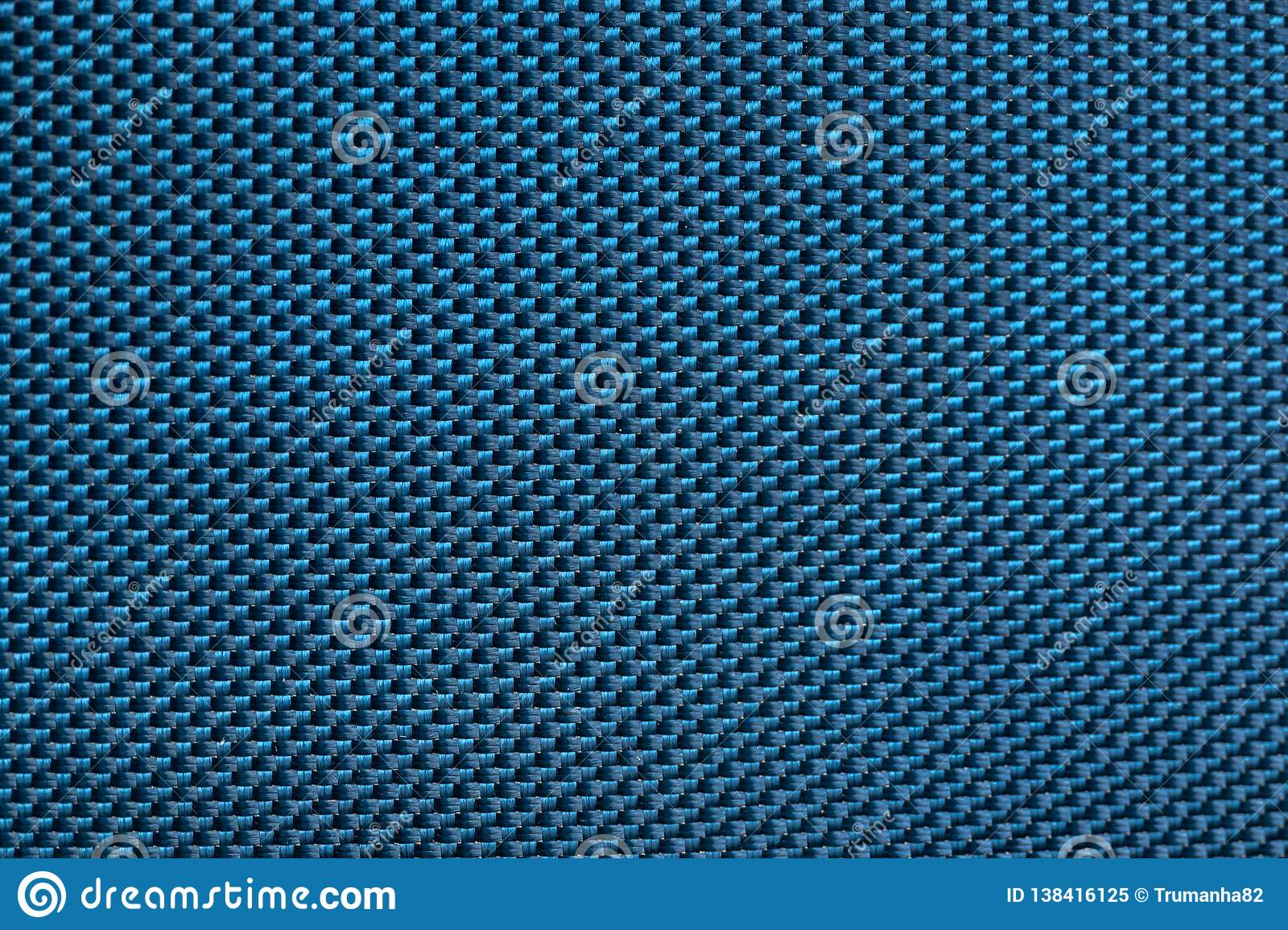 Seamless Texture of Blue Carbon Fibers Cloth