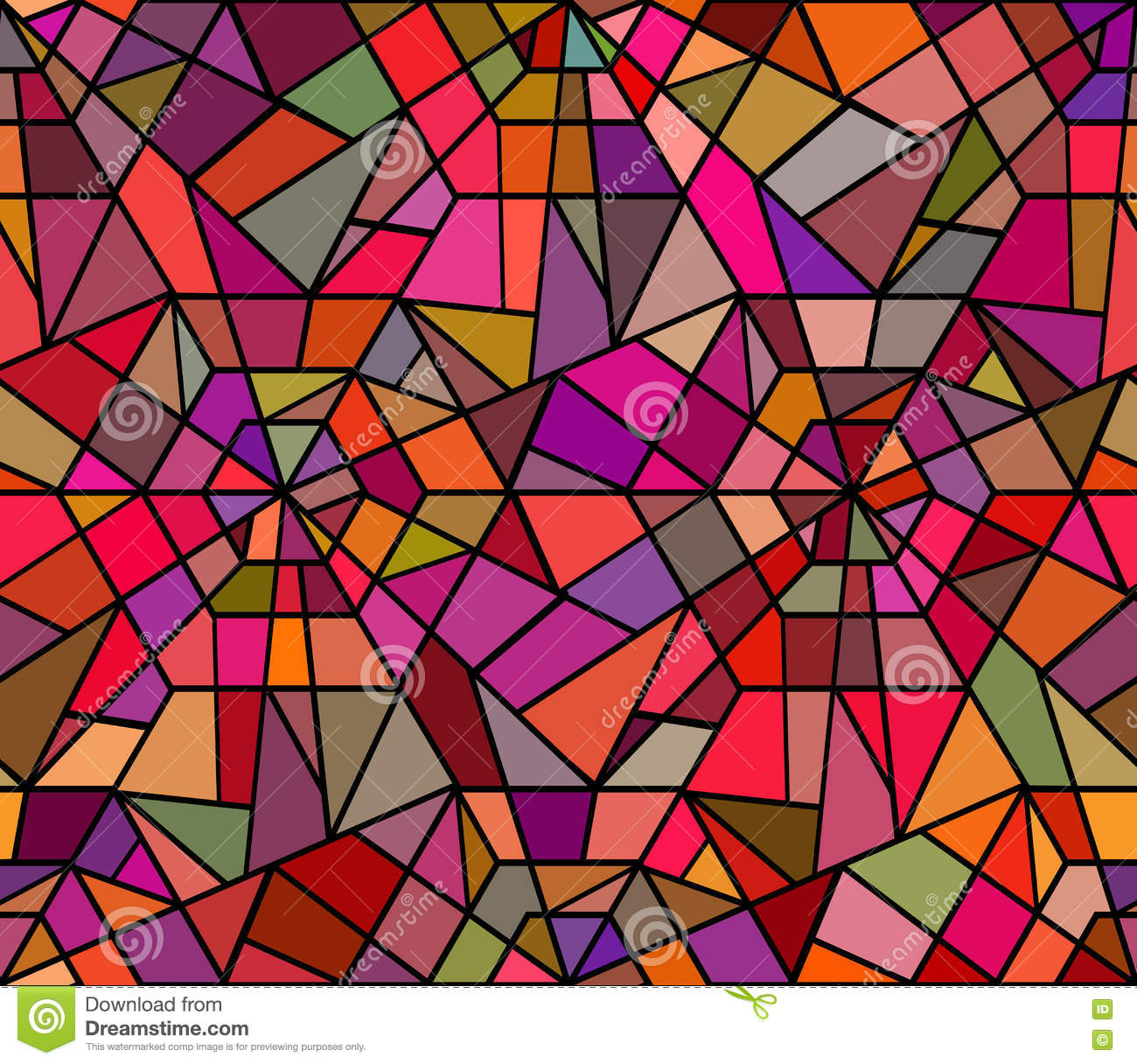 Seamless Texture With A Broken Stained Glass Stock Vector