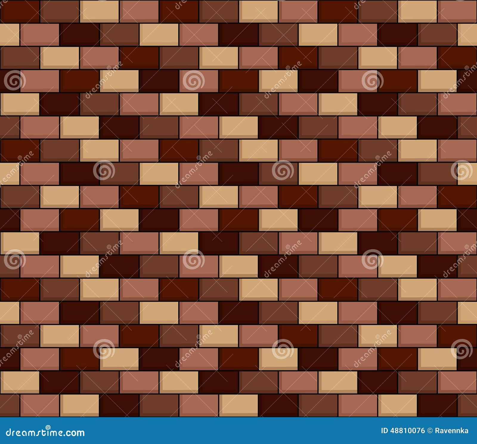 Seamless Texture Of Cartoon Brick Wall Stock Illustration