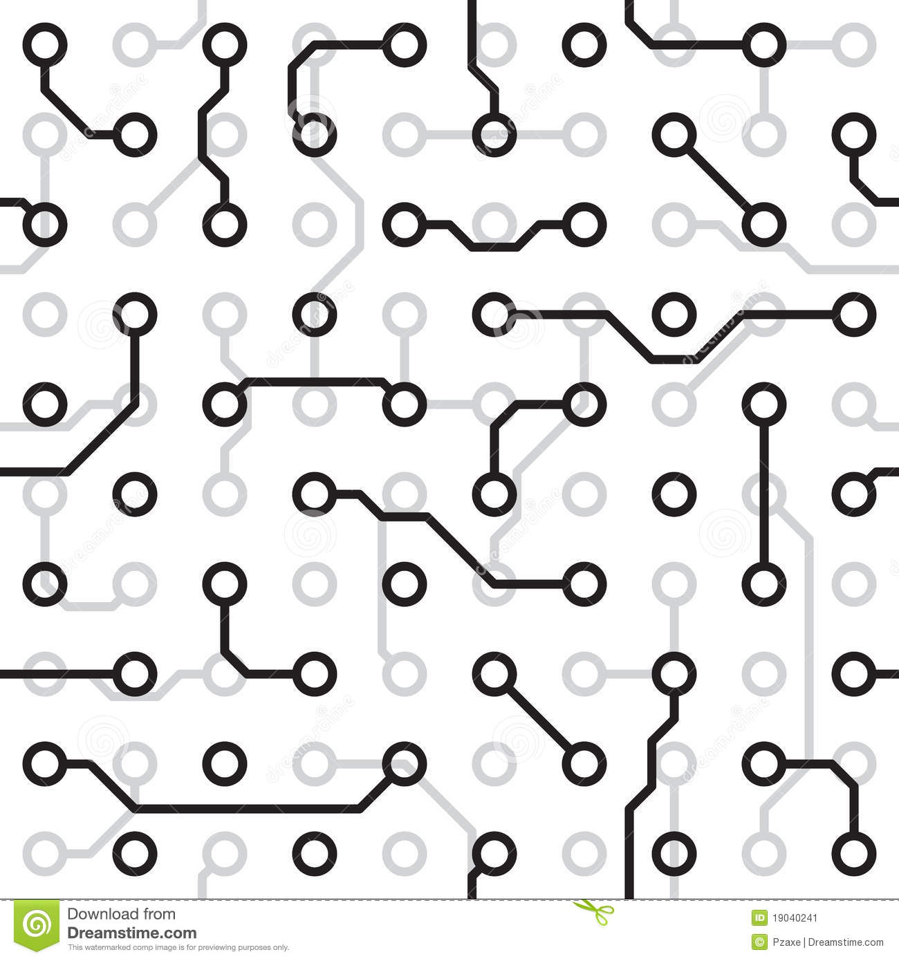 seamless texture - circuit board stock image