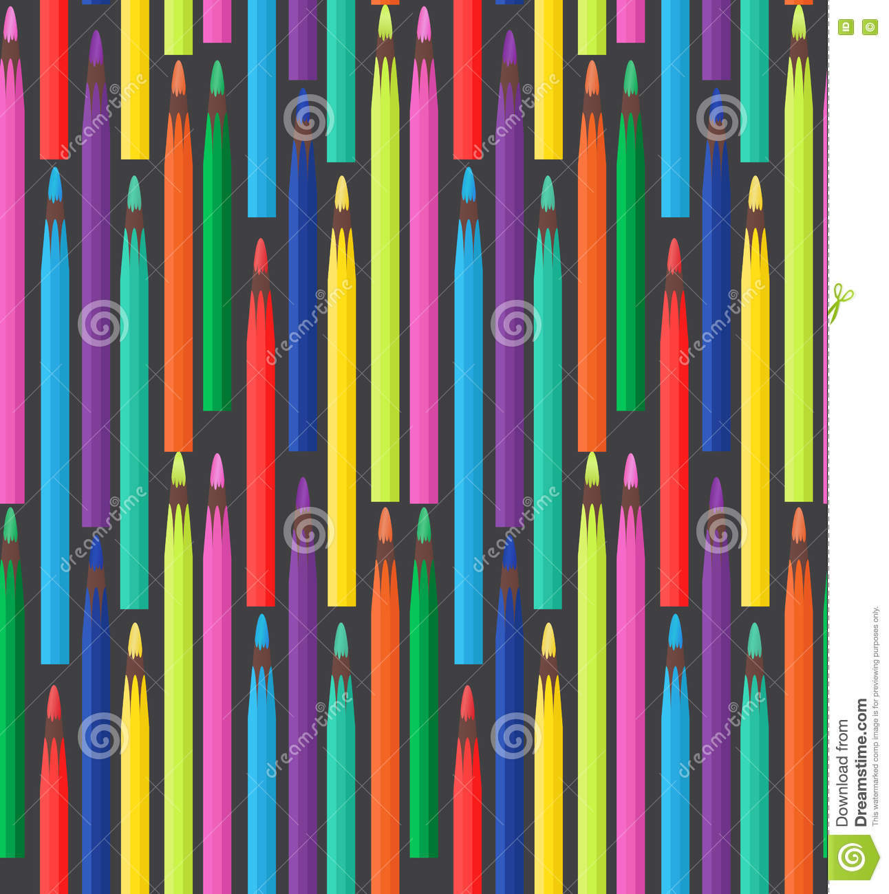 Seamless Texture With Colored Pencils. Stock Vector ...
