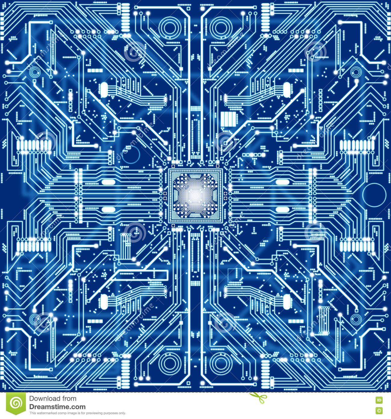 seamless texture of computer circuit board or electronic