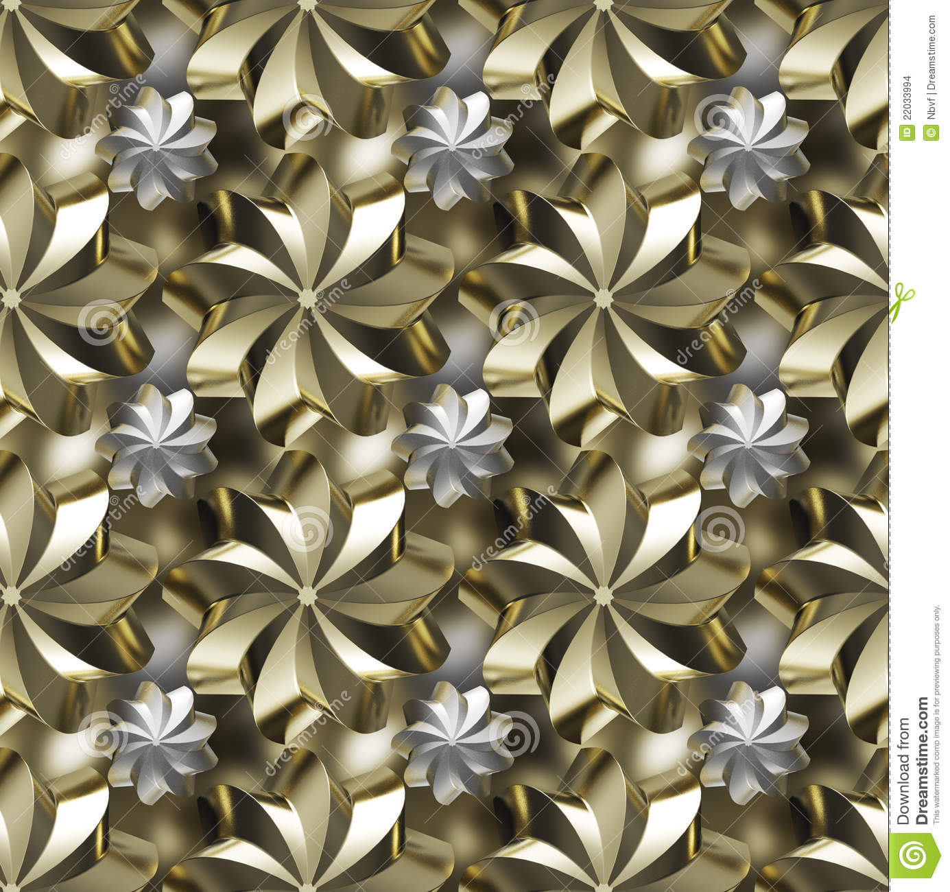 Seamless Texture, Golden/silver Twirled Stars Stock Images ...