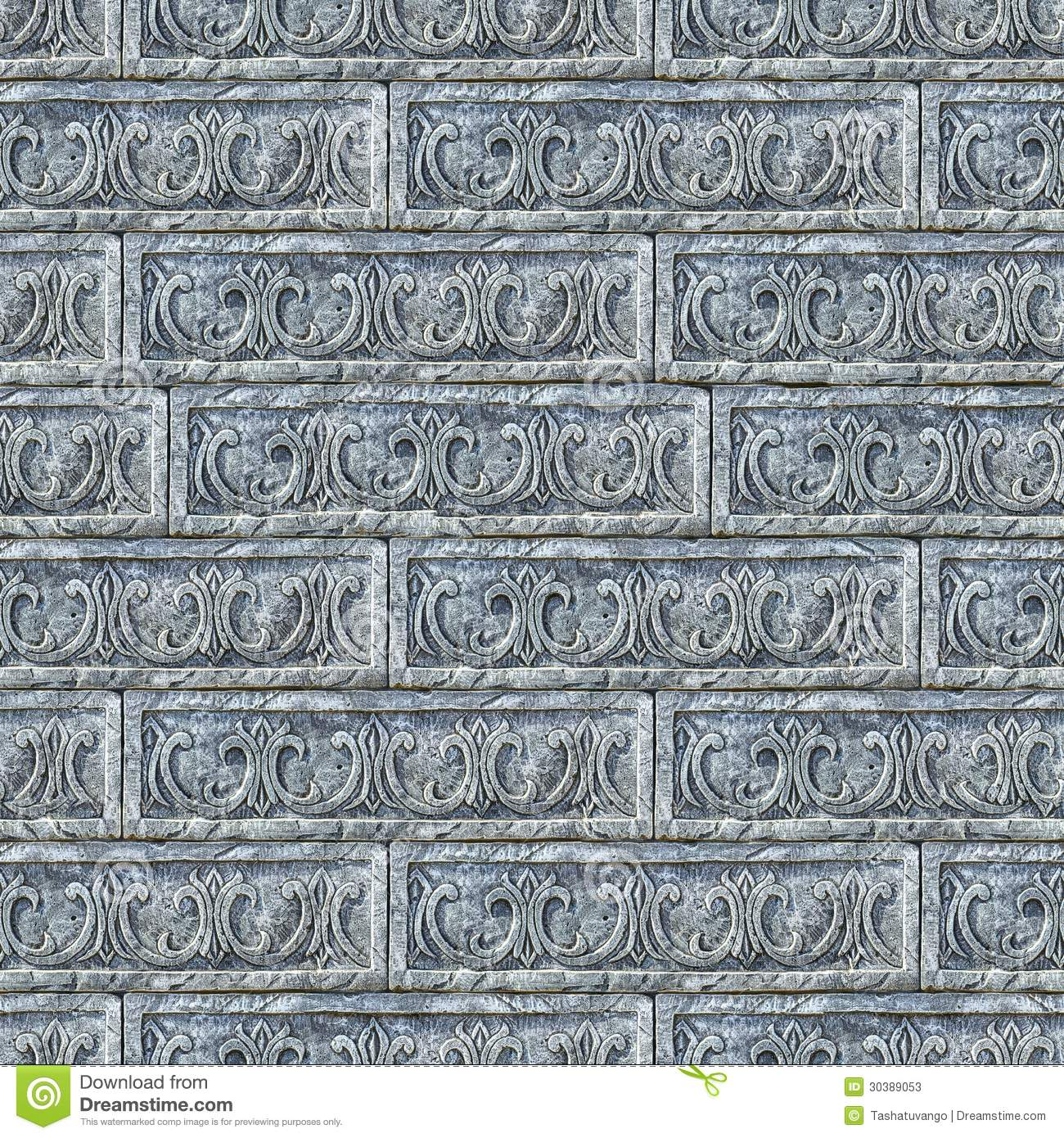 Enjoyable Seamless Texture Of Gray Decorative Bricks Wall Stock Photos Inspirational Interior Design Netriciaus