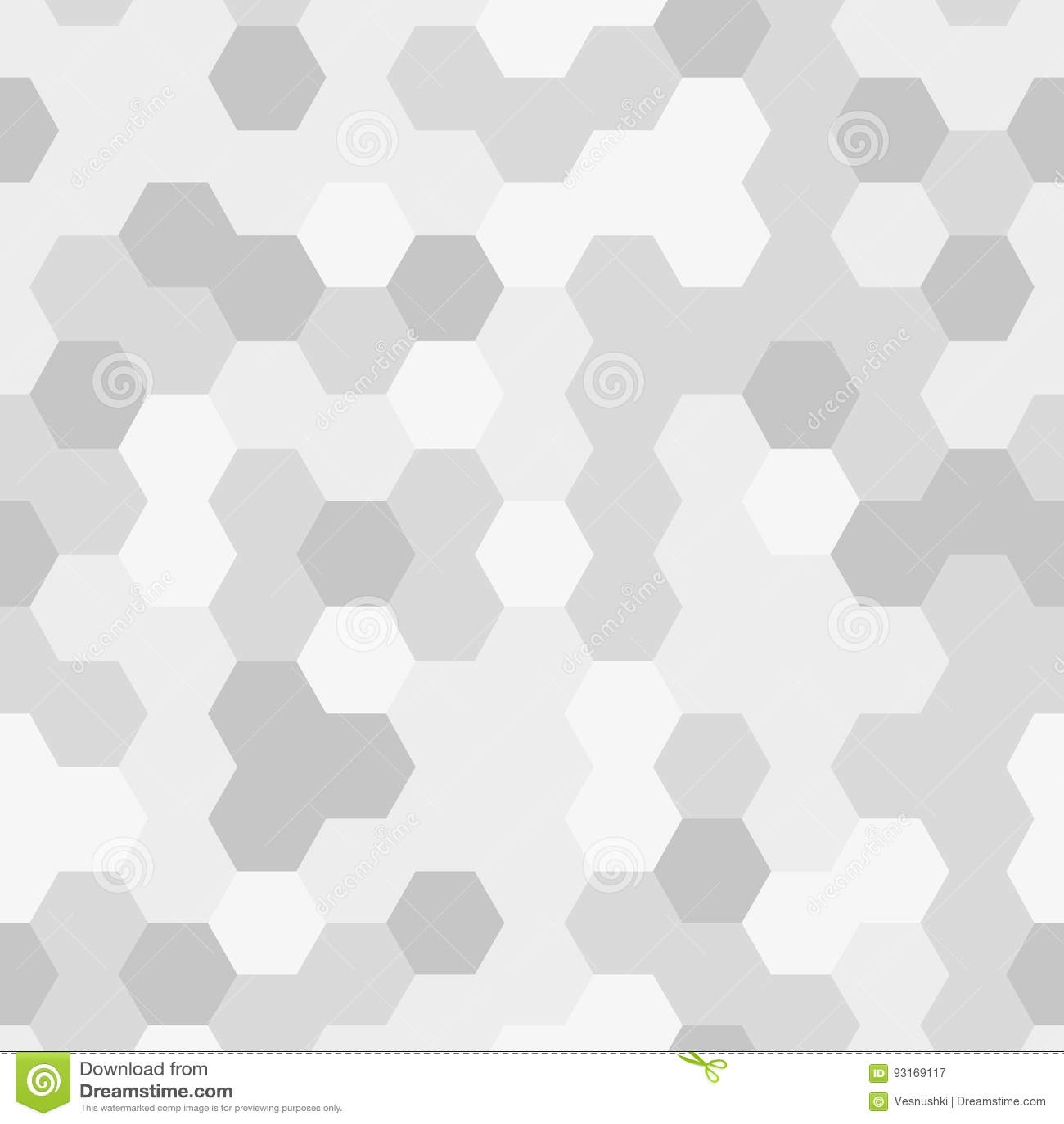 seamless texture gray hex grid geometric pattern stock vector
