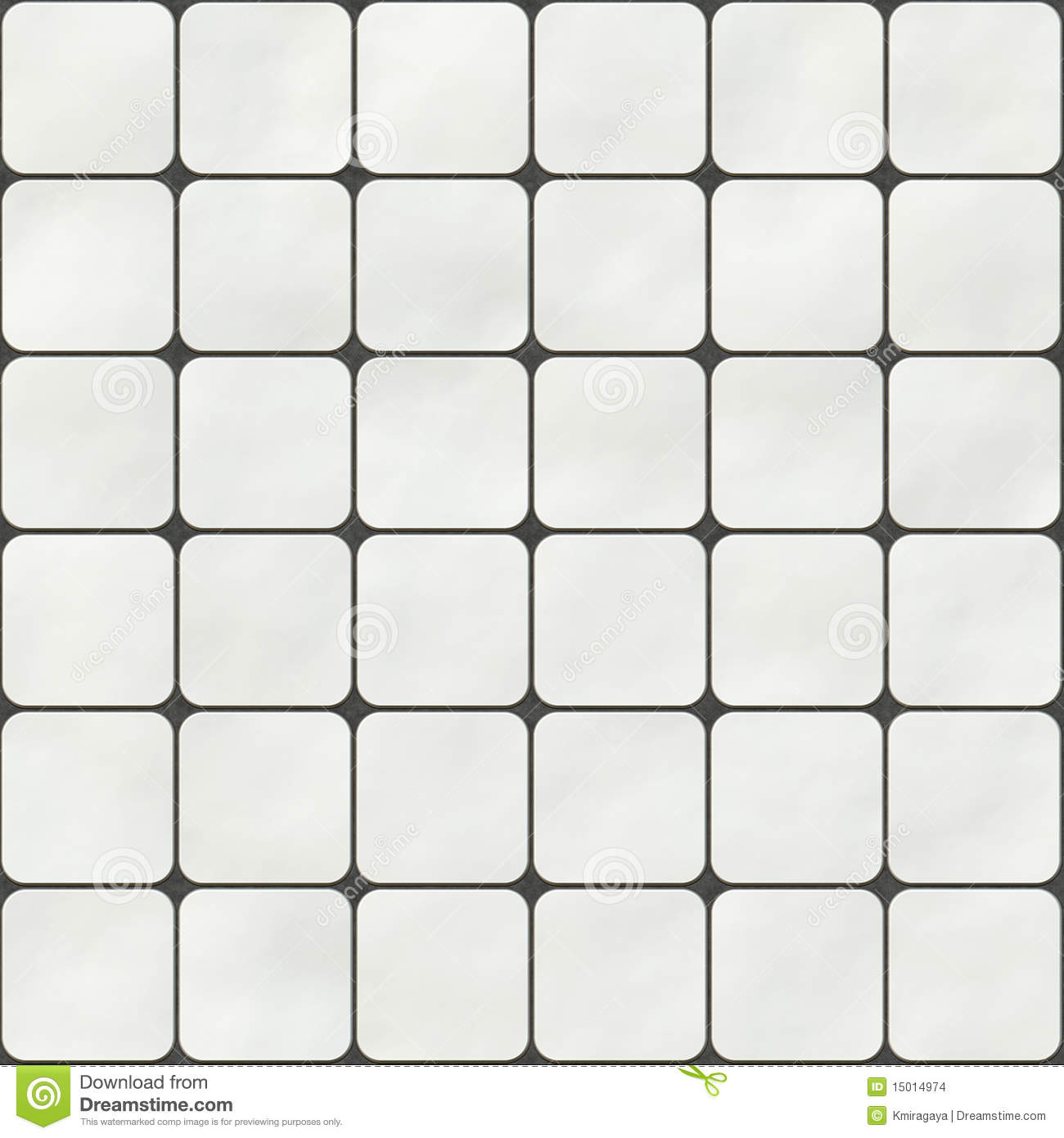 Seamless Texture Made Of White Square Tiles