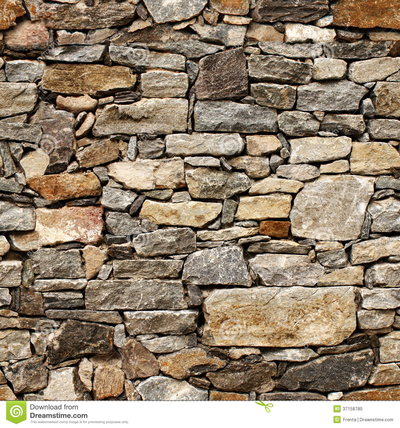 Seamless texture of medieval wall of stone blocks. Seamless Texture Of Medieval Wall Of Stone Blocks Stock Photo