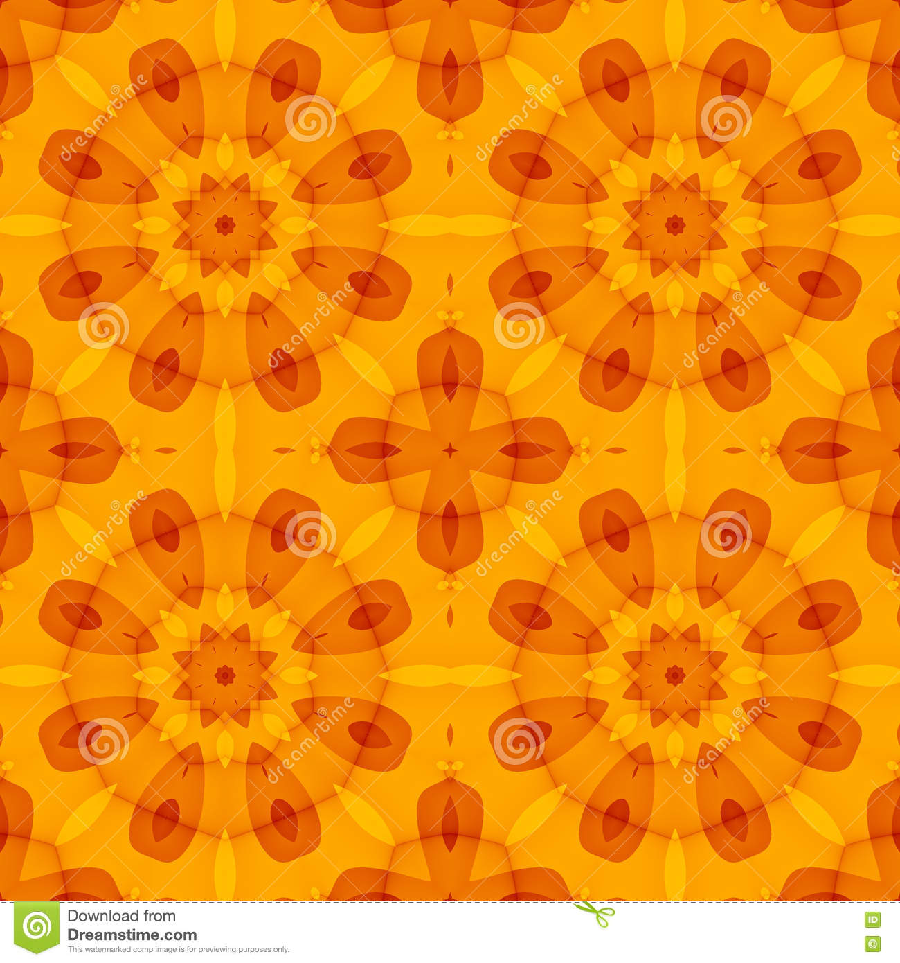 Bed sheet pattern texture - Seamless Texture With An Orange Floral Pattern Royalty Free Stock Images