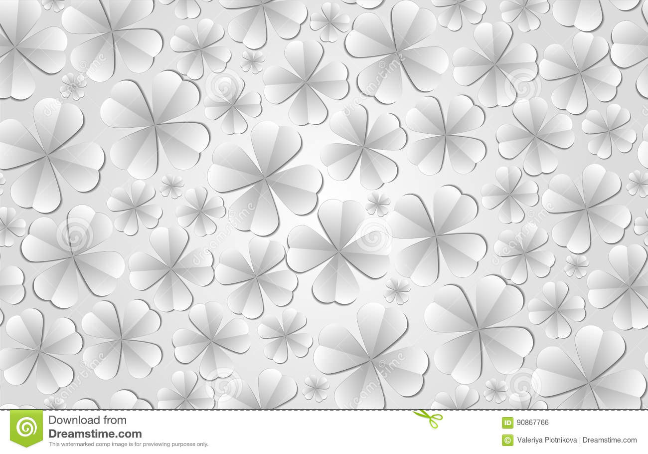 Seamless Texture With Paper Flowers Stock Vector Illustration Of