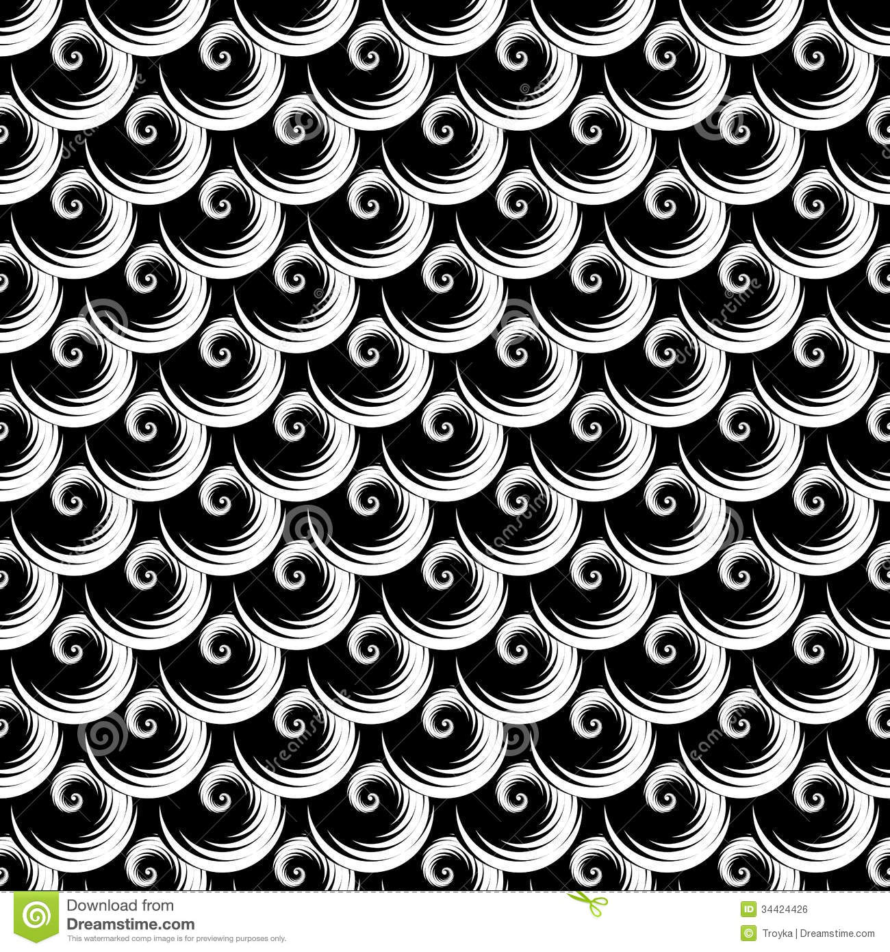 Elements Of Art Pattern : Seamless texture pattern with spiral elements royalty