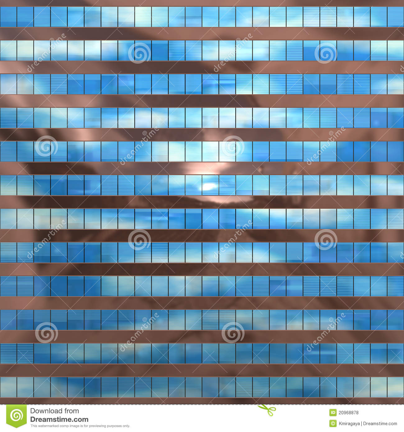 Seamless Texture Resembling Skyscrapers Windows Royalty