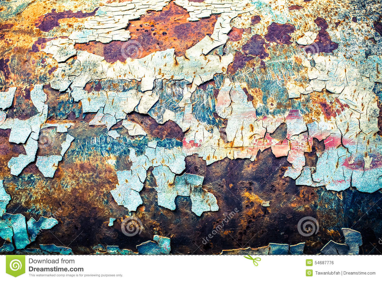 Rough Texture Background: Seamless Texture Of Rusty Colored Rough, Vintage