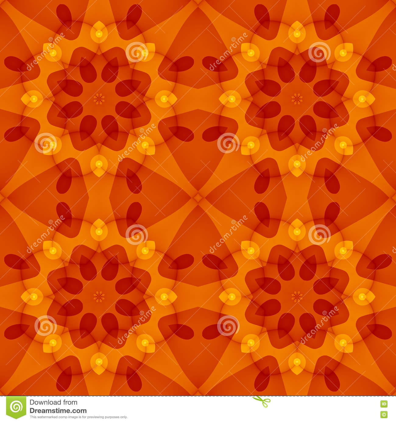 Brown bed sheet textures - Seamless Texture With A Warm Orange Red Floral Pattern Stock Illustration