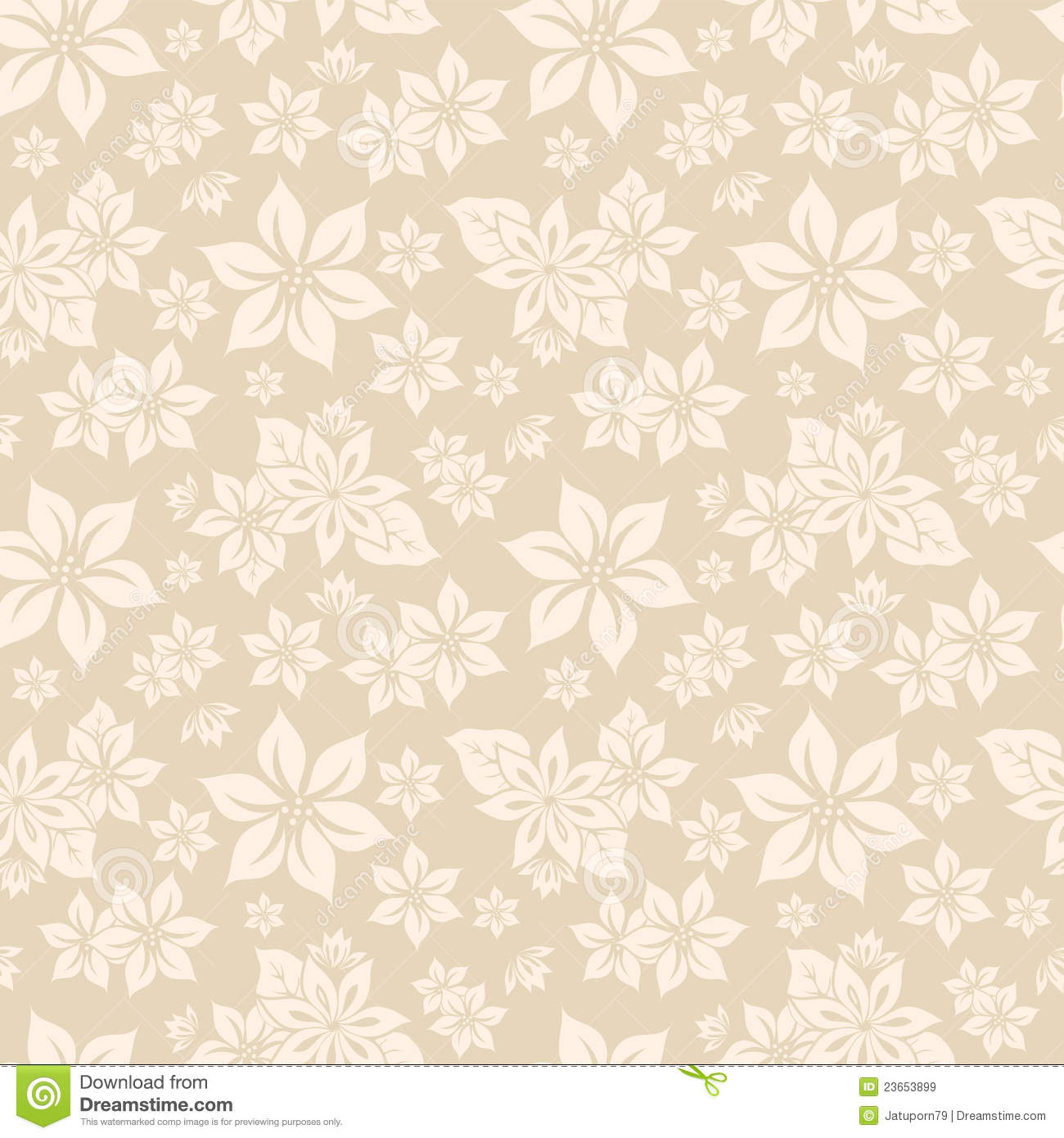 Seamless Textured Flower Wallpaper Stock Illustration