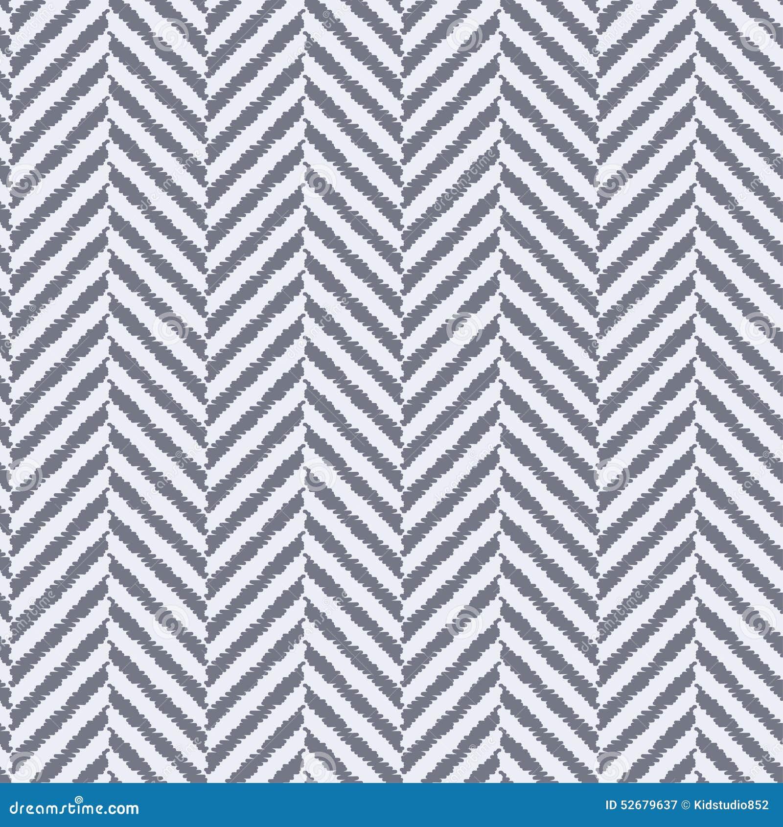 Seamless Textured Herringbone Fabric Pattern Stock Vector