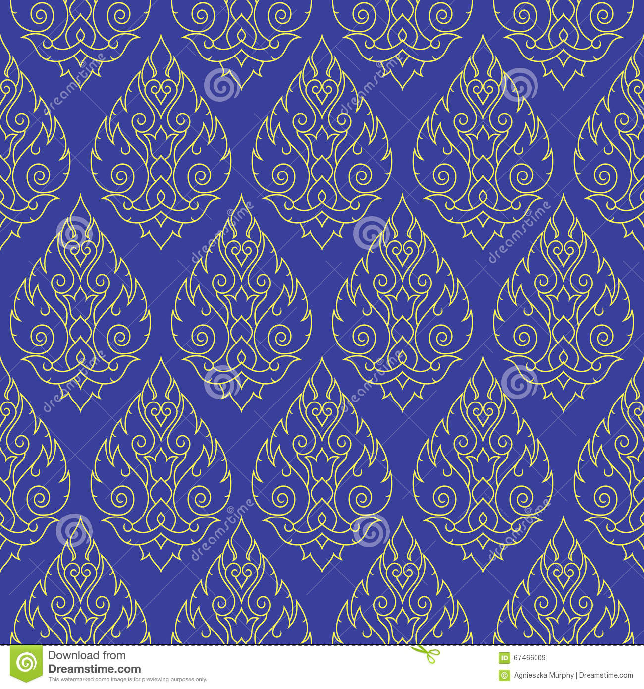 Thai Seamless Pattern Stock Vector - Image: 68083071