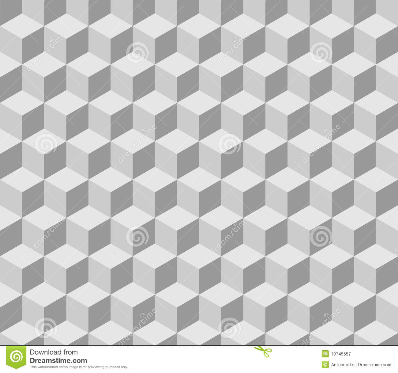 Seamless Tilable Gray Isometric Cube Pattern Royalty Free ...