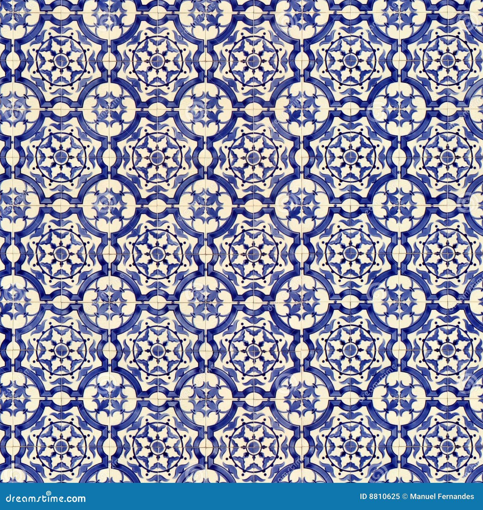 Seamless Tile Pattern Of Ancient Ceramic Tiles Stock Image - Image ...