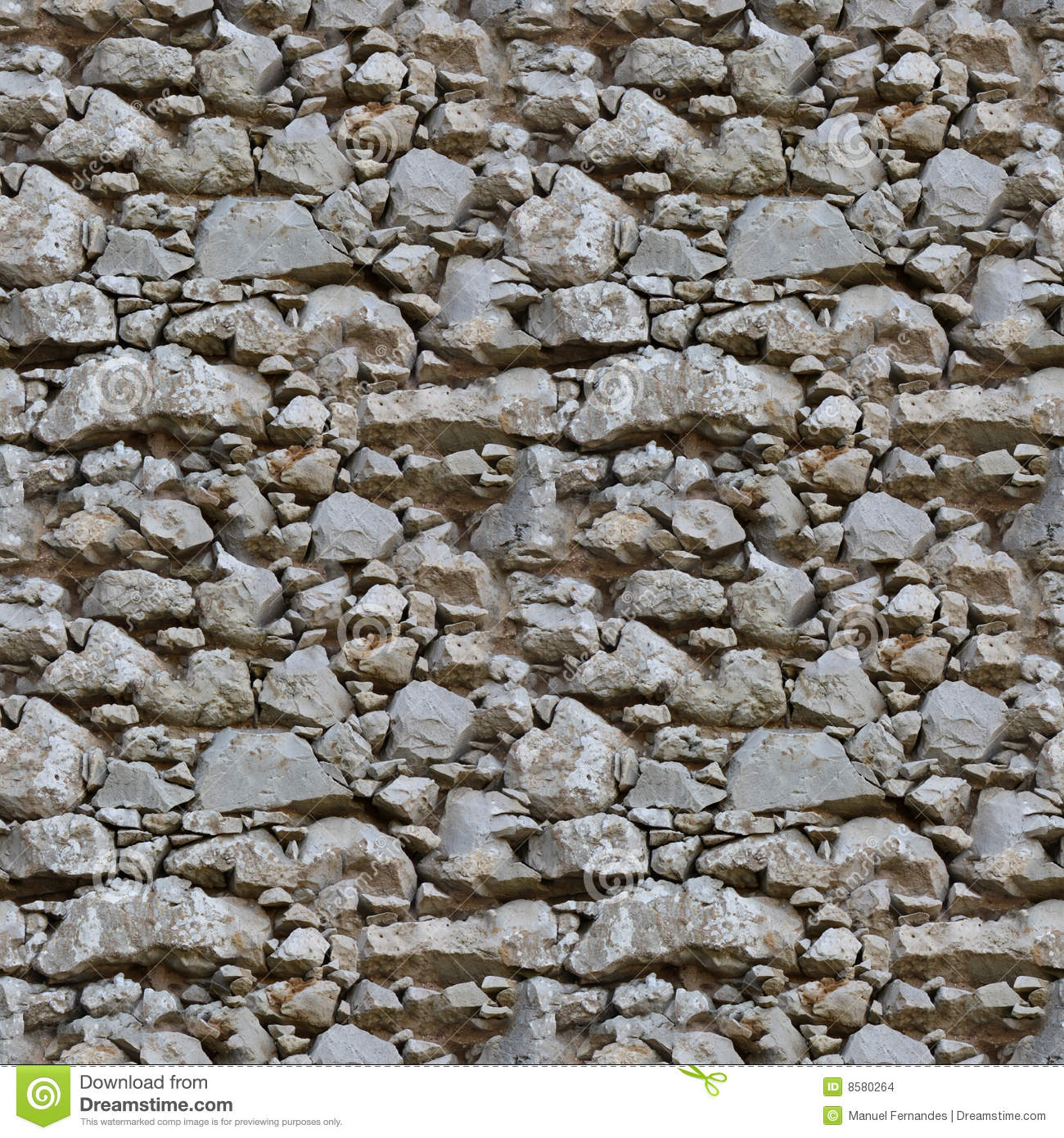 Stone Wall Pattern : Seamless tile pattern of a stone wall stock photo image
