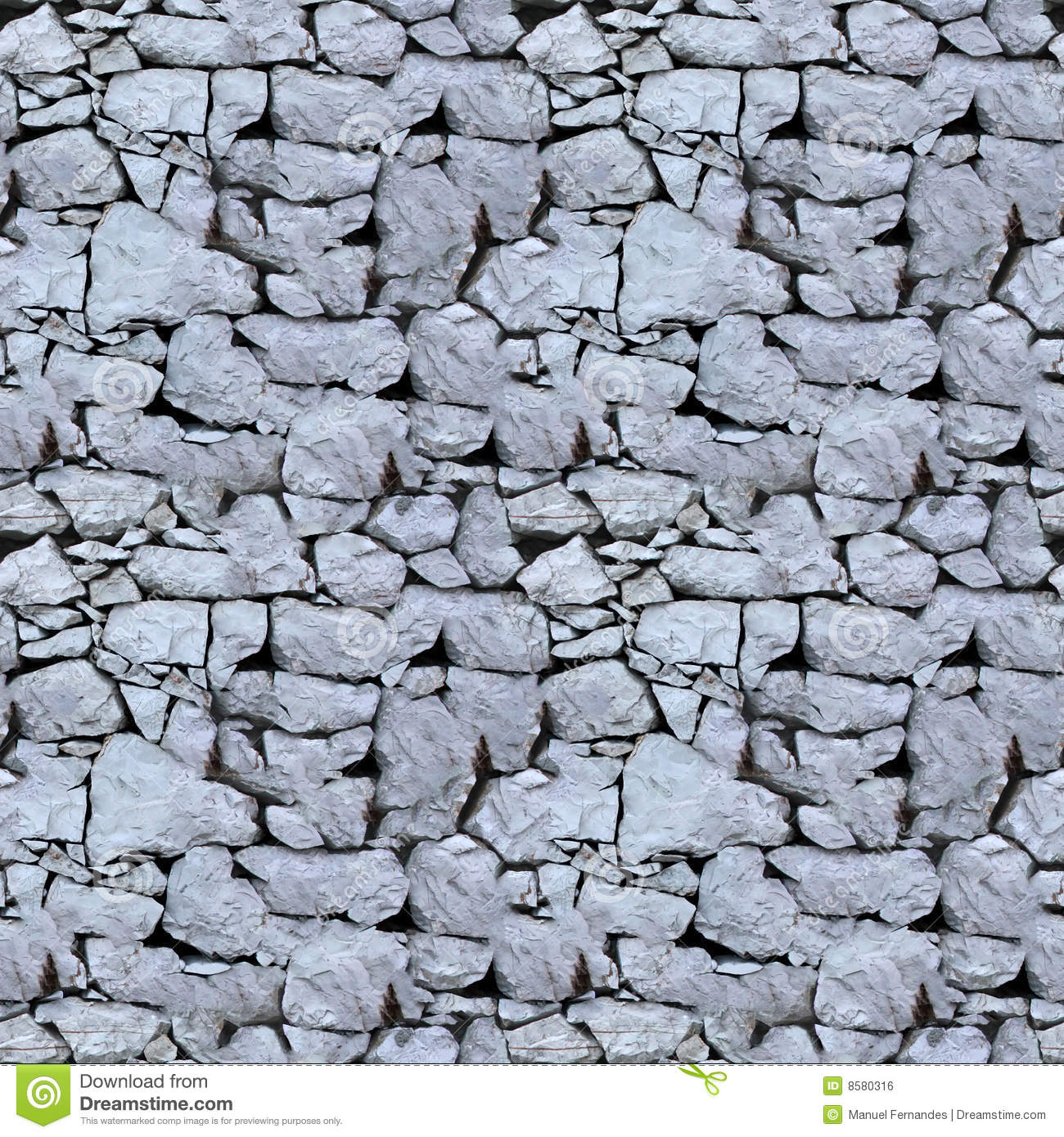 Stone Wall Pattern : Seamless tile pattern of a stone wall royalty free stock