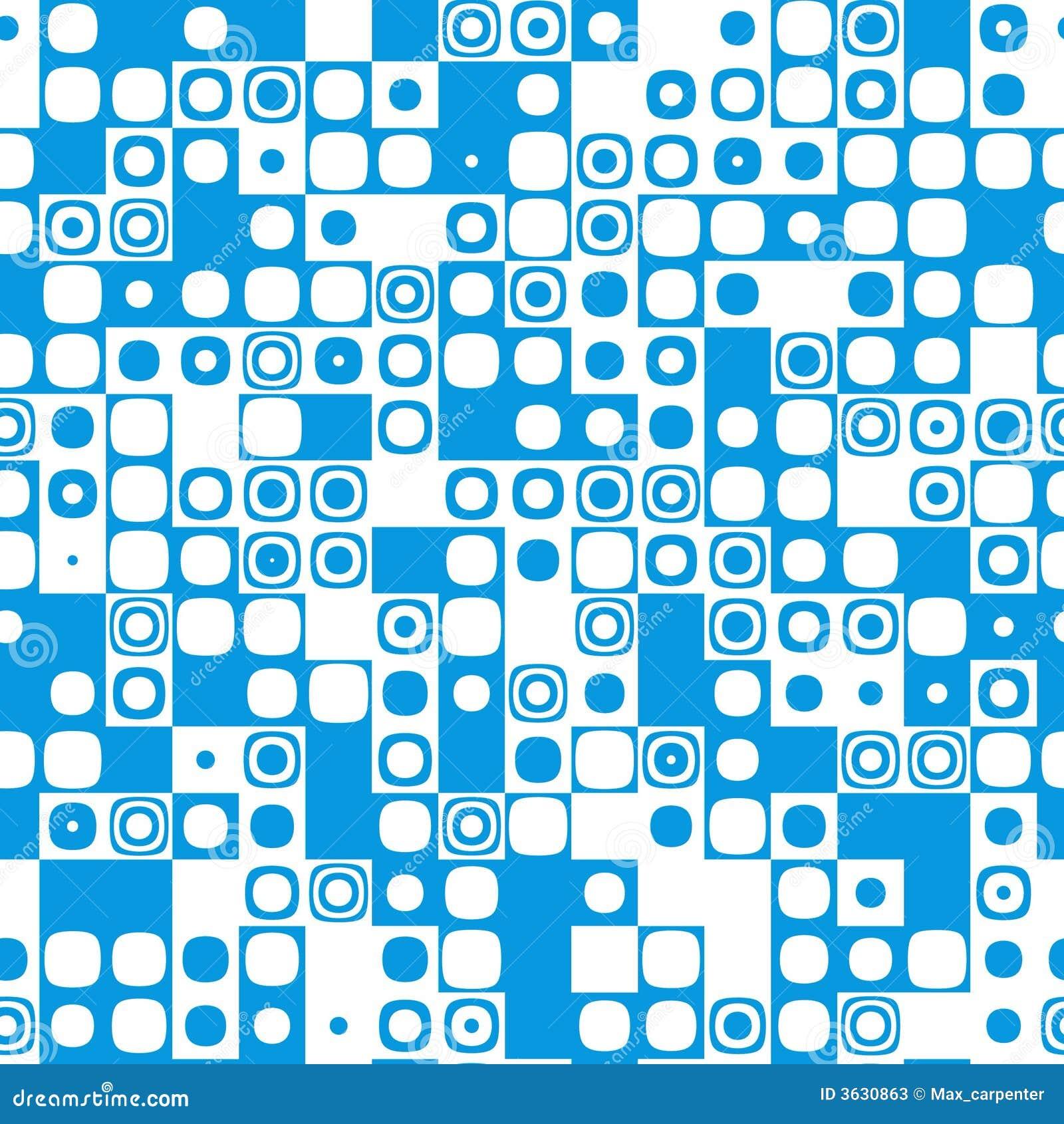 Seamless Tile Pattern Texture Icon Mosaic Blue Stock