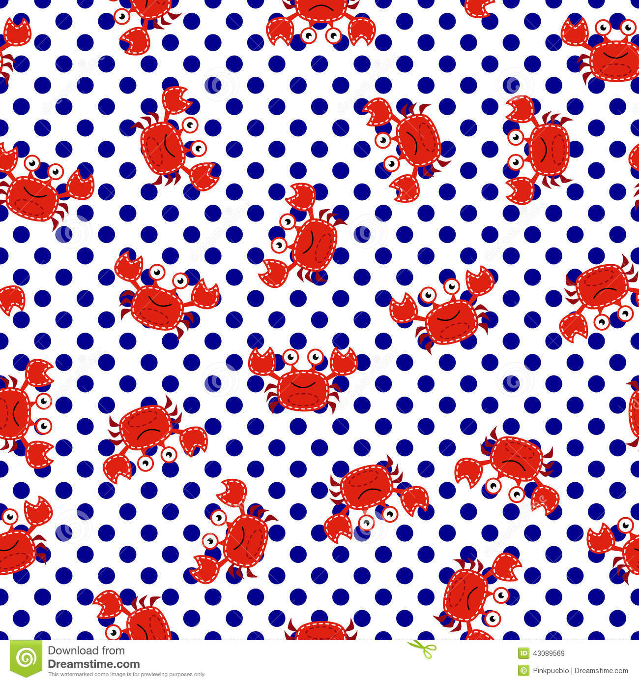 Seamless Tileable Nautical Themed Vector Background or WallpaperPreppy Anchor Wallpaper