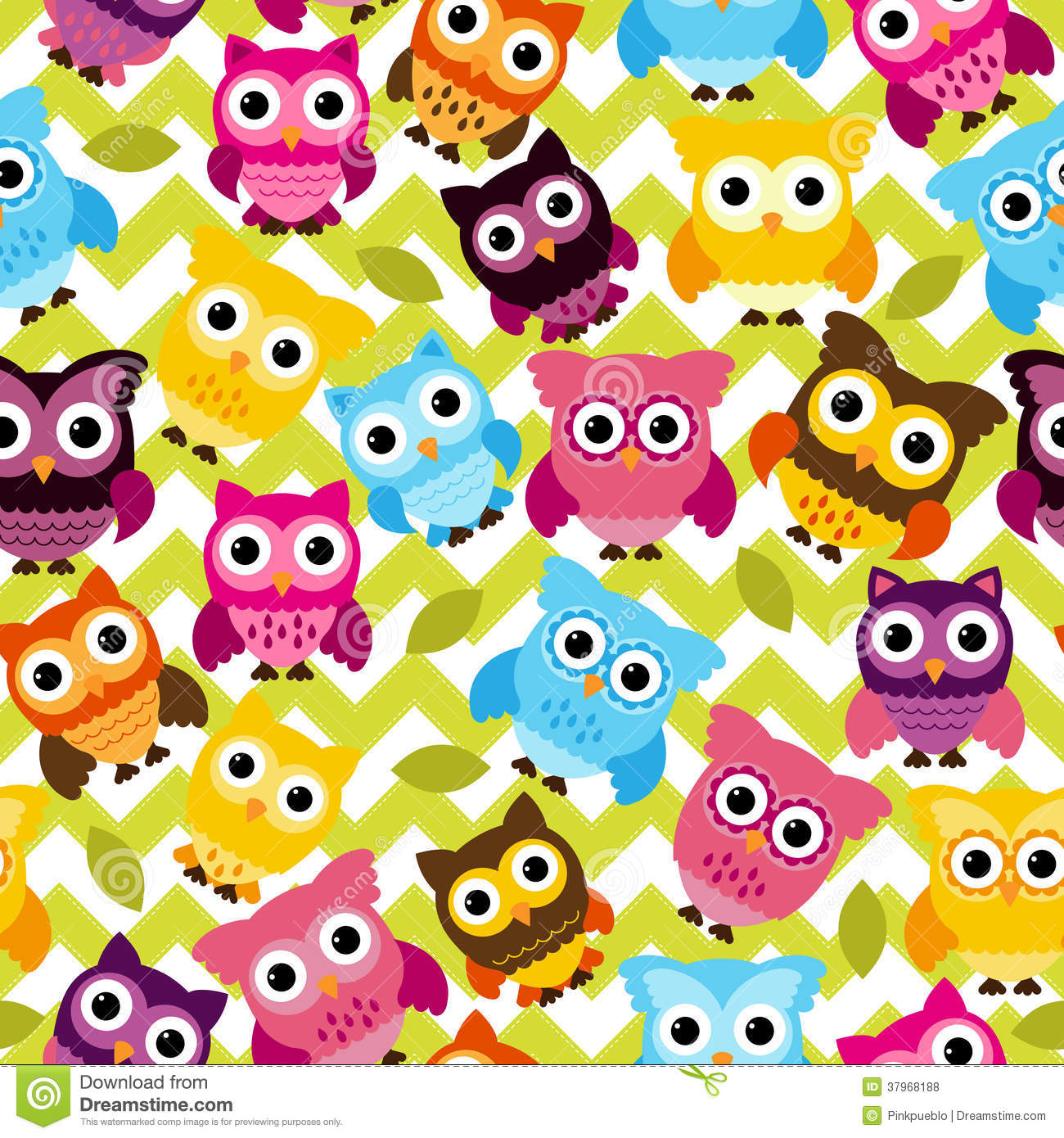 Seamless And Tileable Vector Owl Background Pattern ...