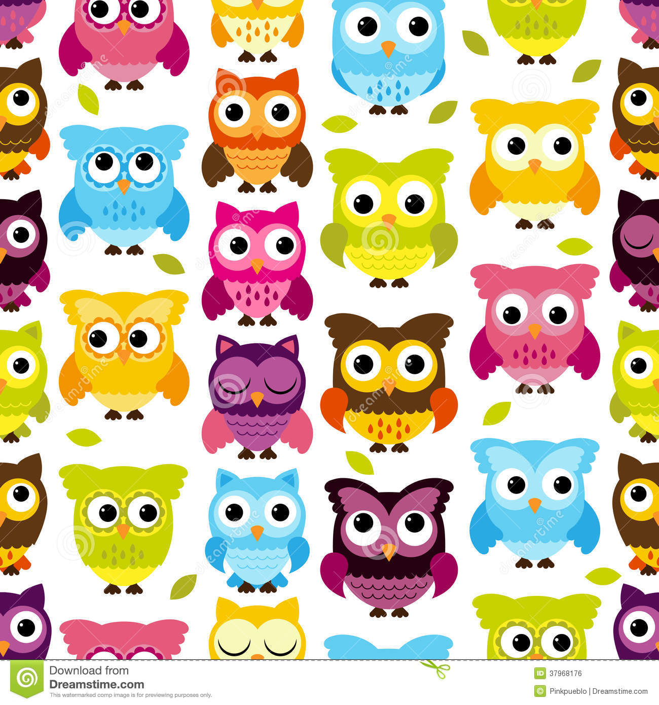 Free Owl Wallpapers: Seamless And Tileable Vector Owl Background Pattern