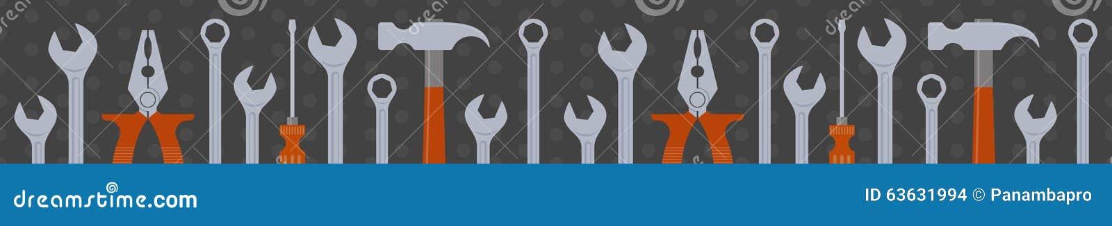 Seamless tools border stock vector. Illustration of ...