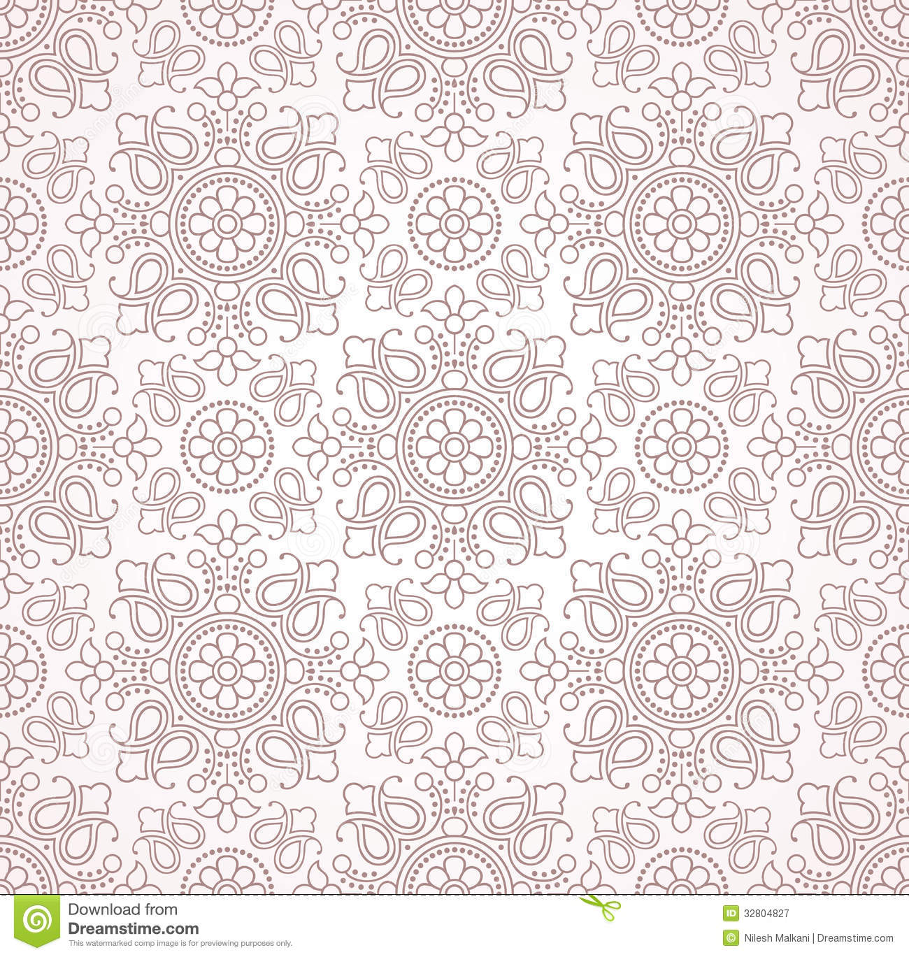 Seamless Traditional Vector Paisley Wallpaper Stock Vector ...