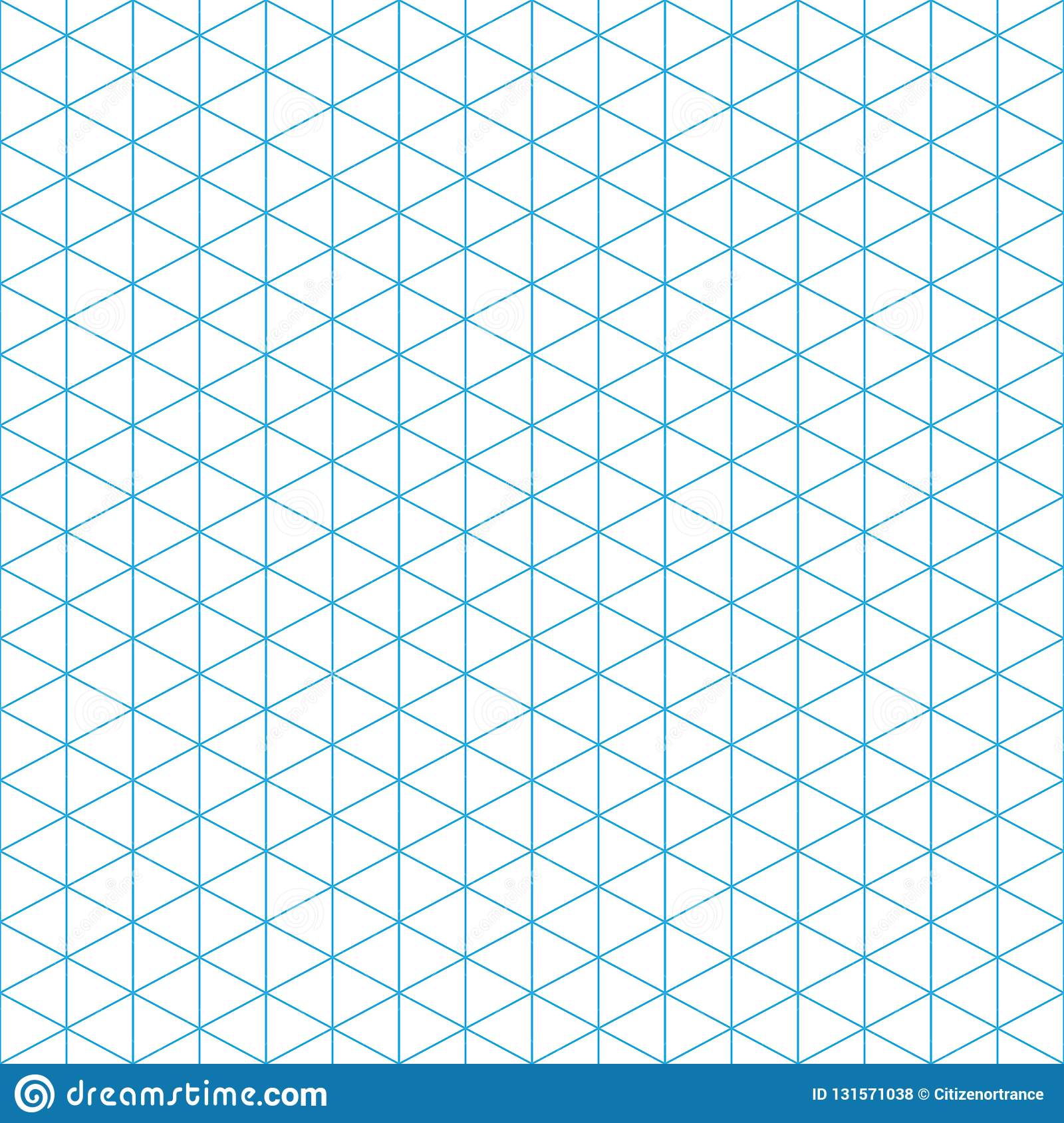 Seamless triangle pattern. Blue, white Geometric texture Vector