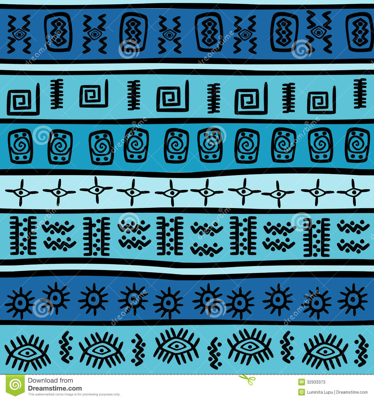 Seamless With Tribal M... Pastel Aztec Pattern Wallpaper