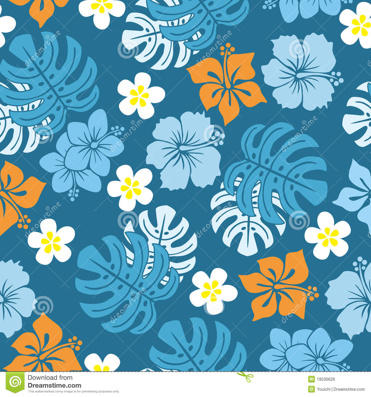 Seamless tropical pattern stock vector  Illustration of