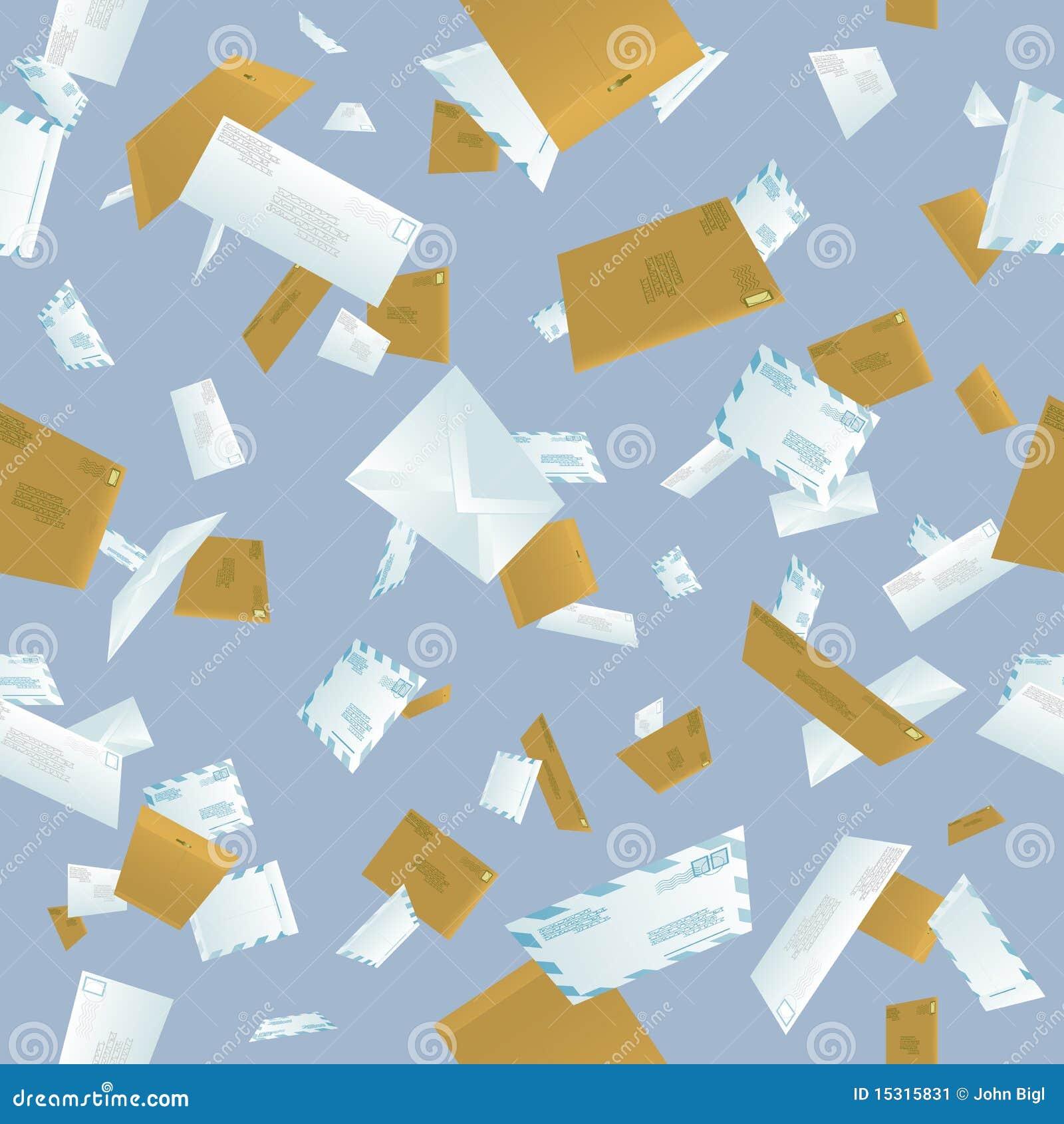 Seamless Tumbling Mail Background Stock Image - Image: 15315831