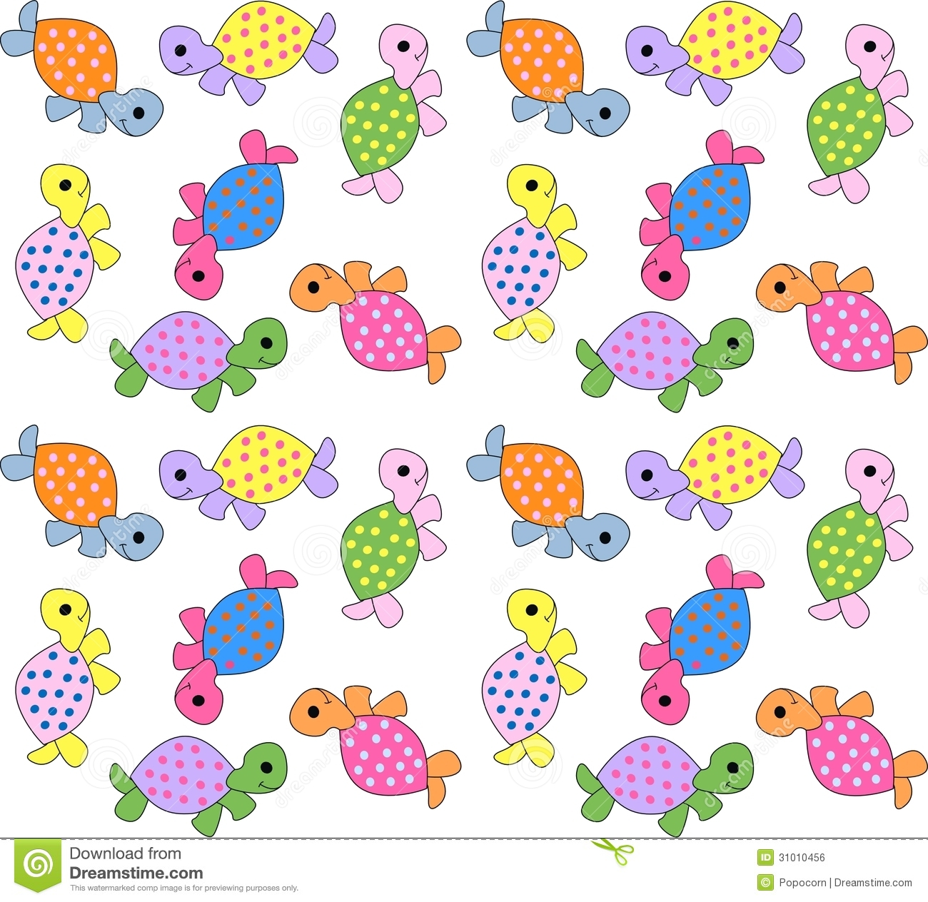 Seamless Turtle Pattern Royalty Free Stock Image Image