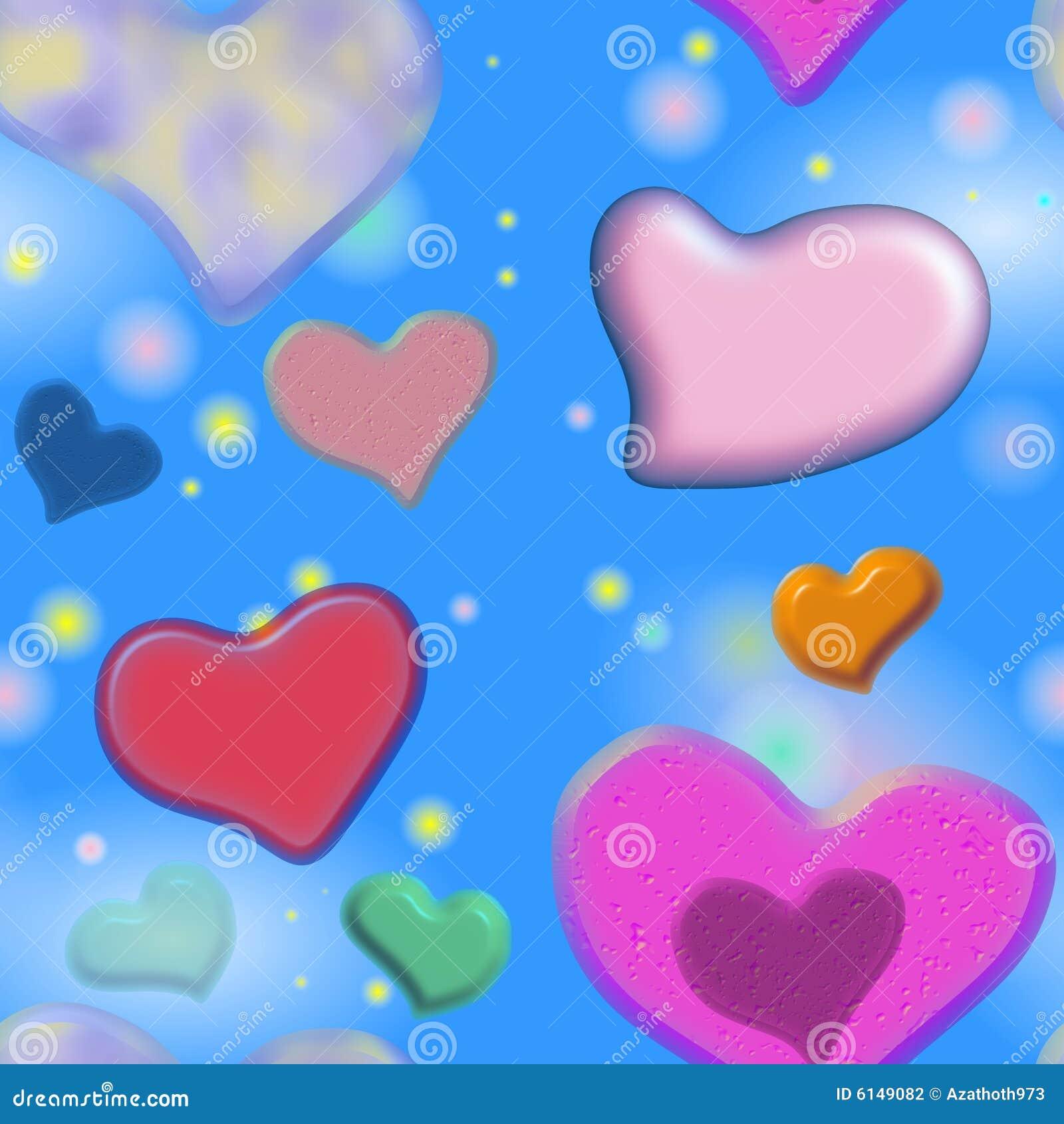 Seamless valentine hearts