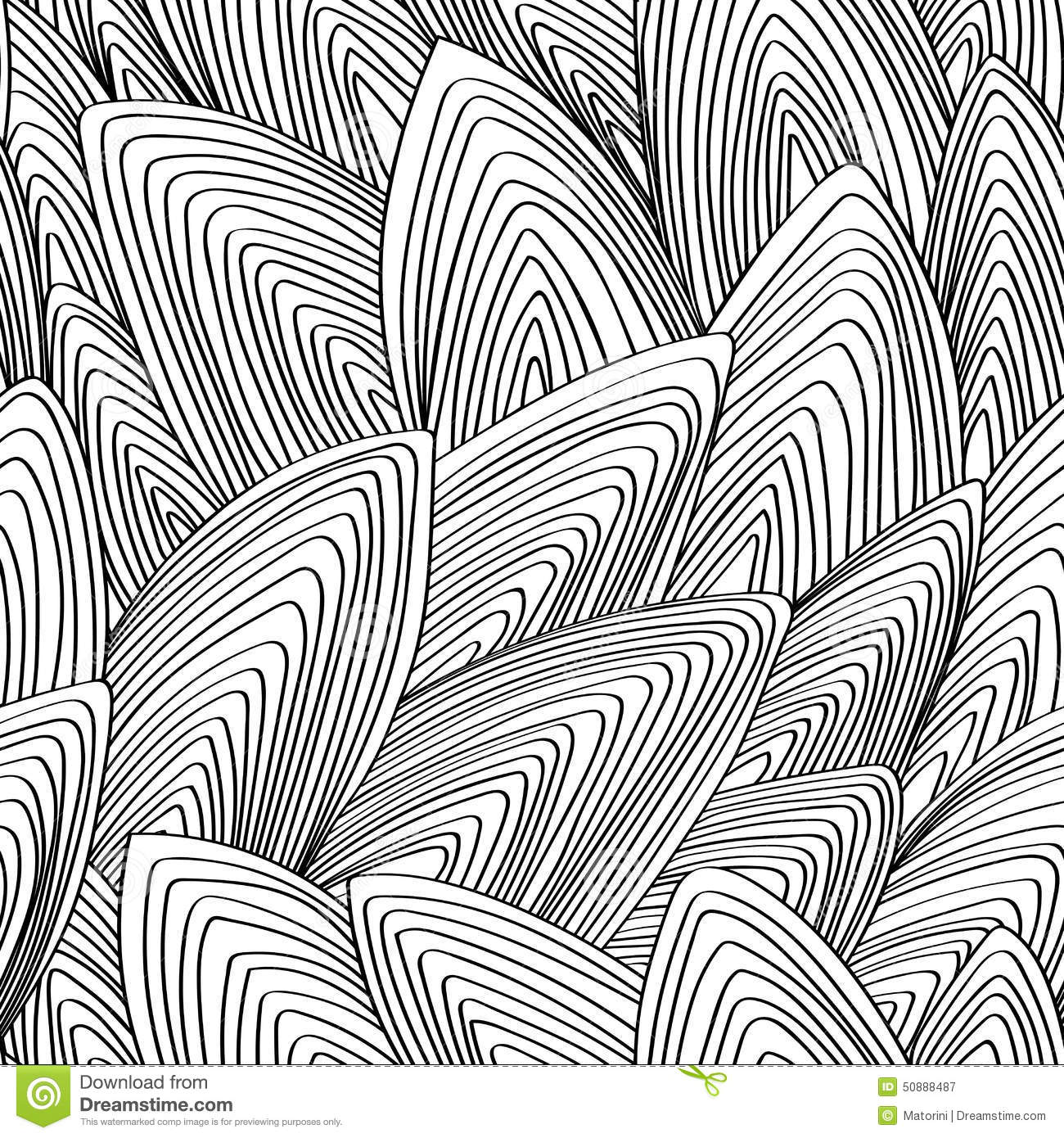 Seamless, Vector, Abstract, Contour Pattern Stock Vector ...