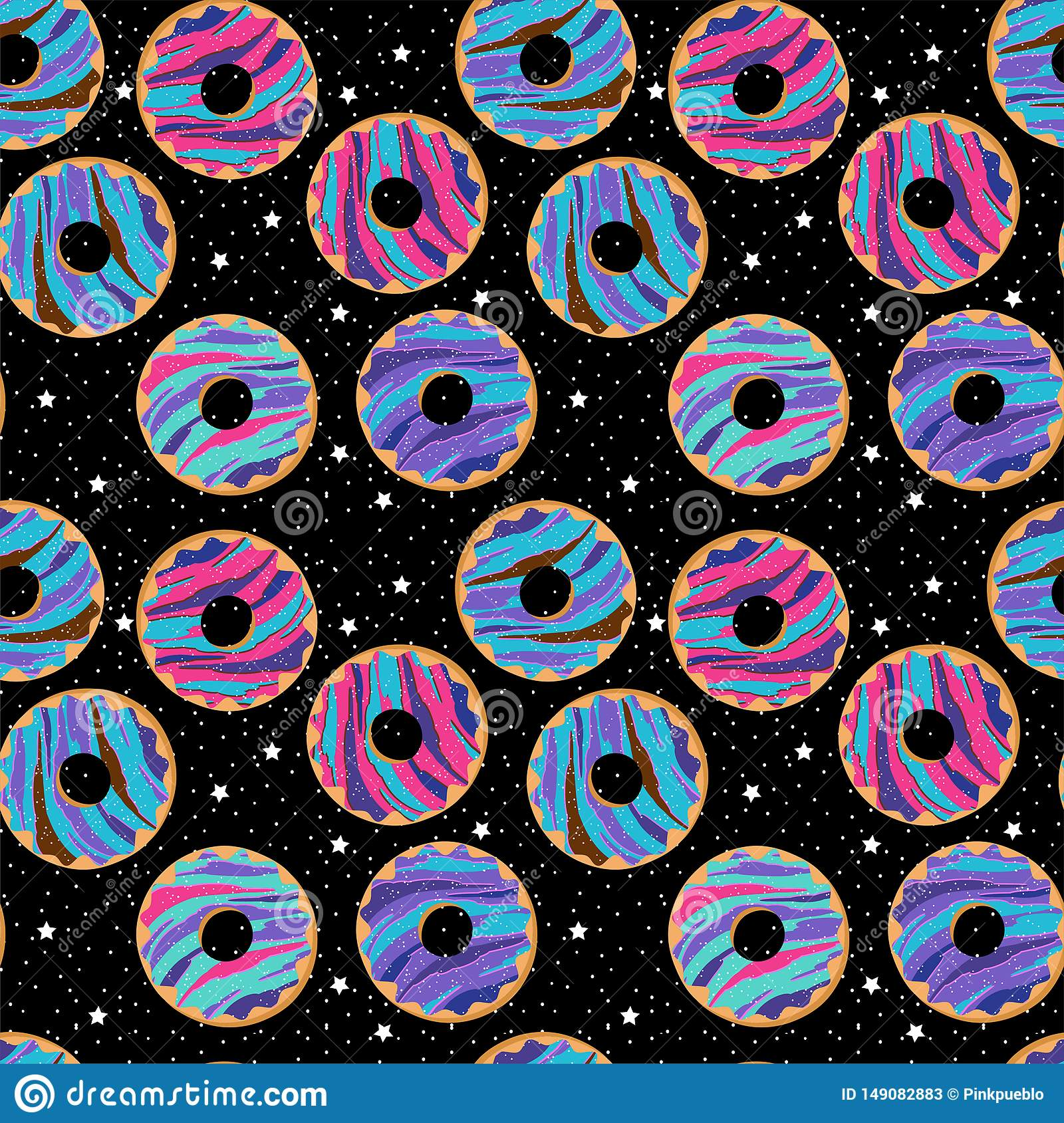 seamless vector background galaxy donuts stars seamless vector background galaxy donuts stars sprinkles 149082883