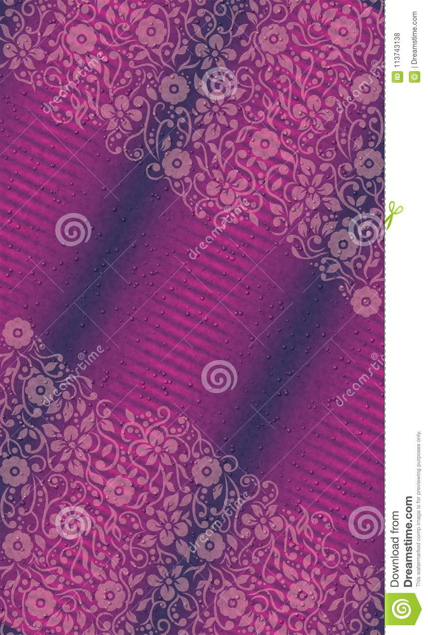 UV Floral wallpaper with textured bubbles vector illustration