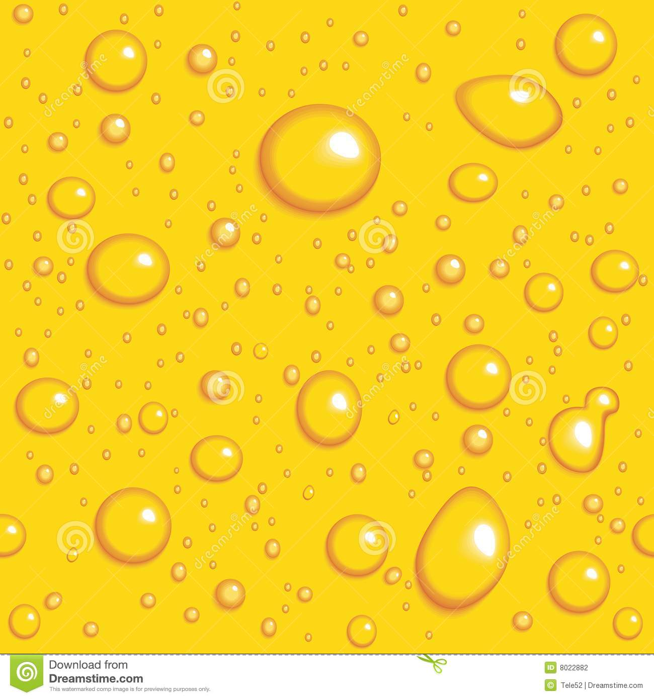 Seamless vector background. Yellow drops