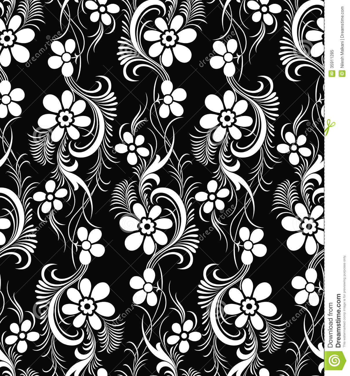 Seamless Vector Damask Wallpaper Royalty Free Stock Photo ...